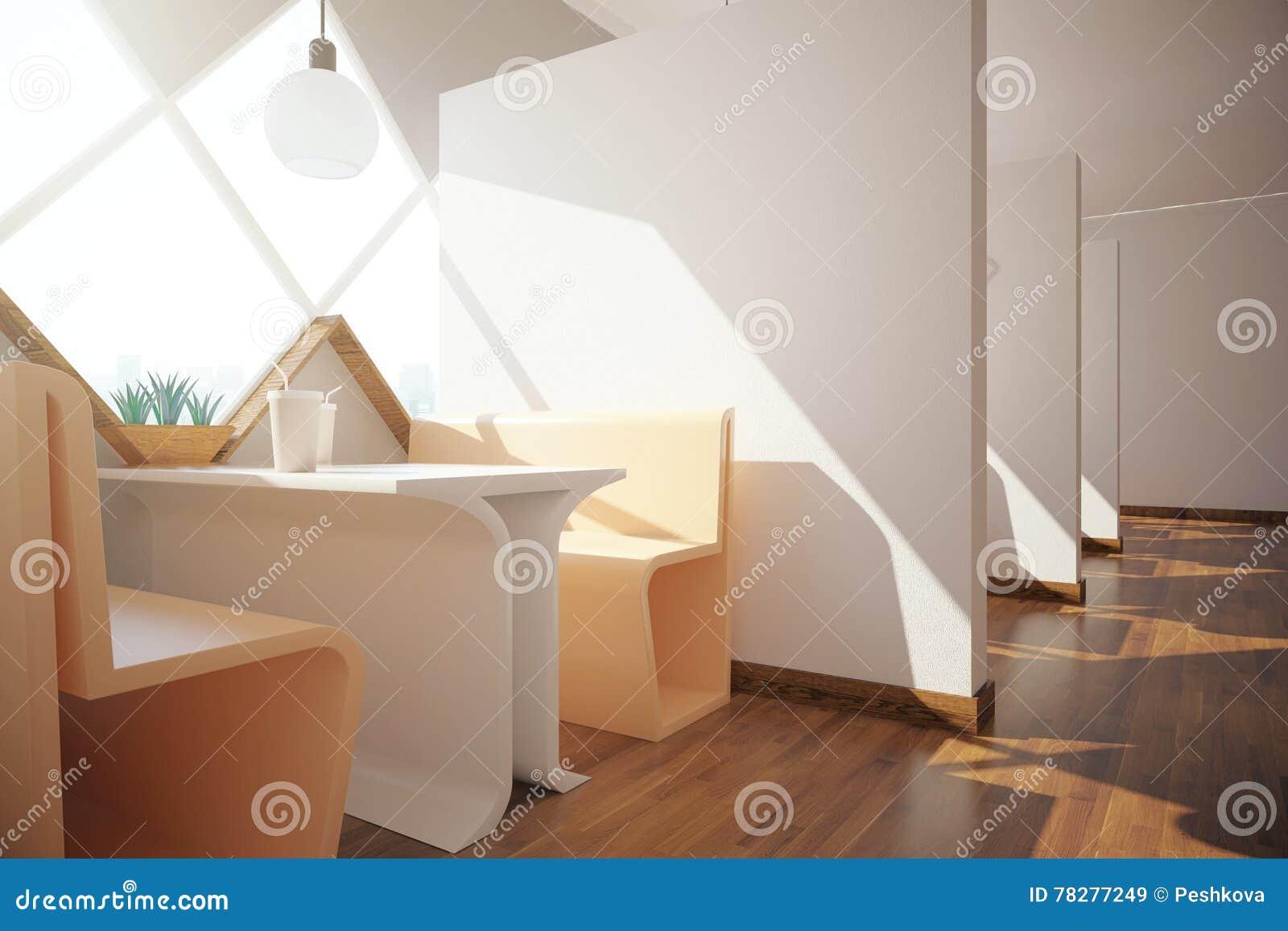 modern cafe interior stock illustration - image: 78277249