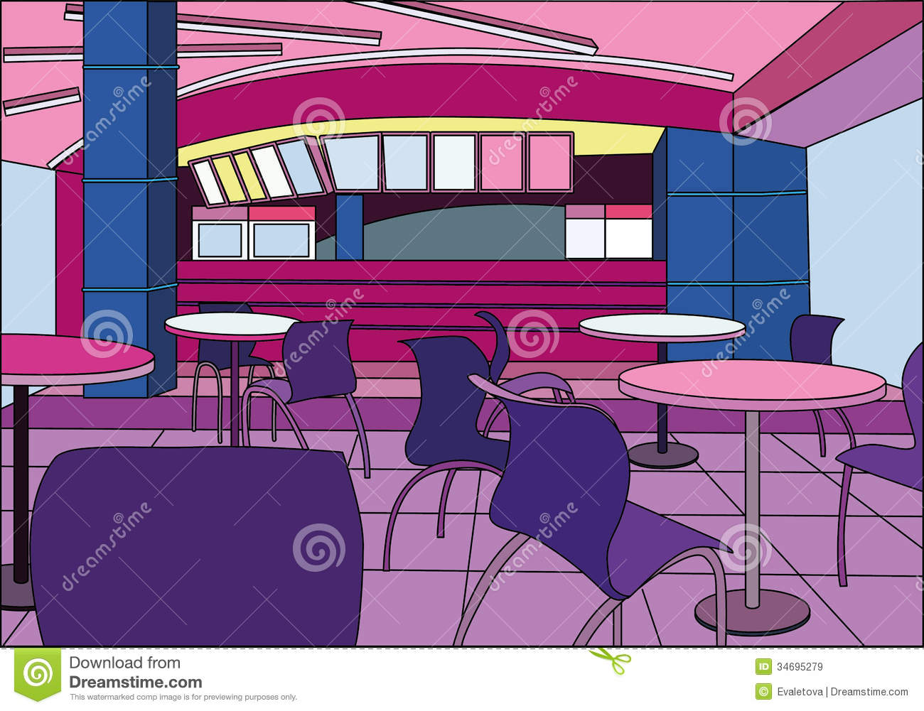 modern cafe interior royalty free stock images - image: 34695279