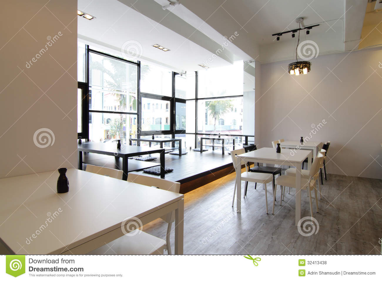 Modern Cafe Or Restaurant Stock Photo Image Of Tables 32413438