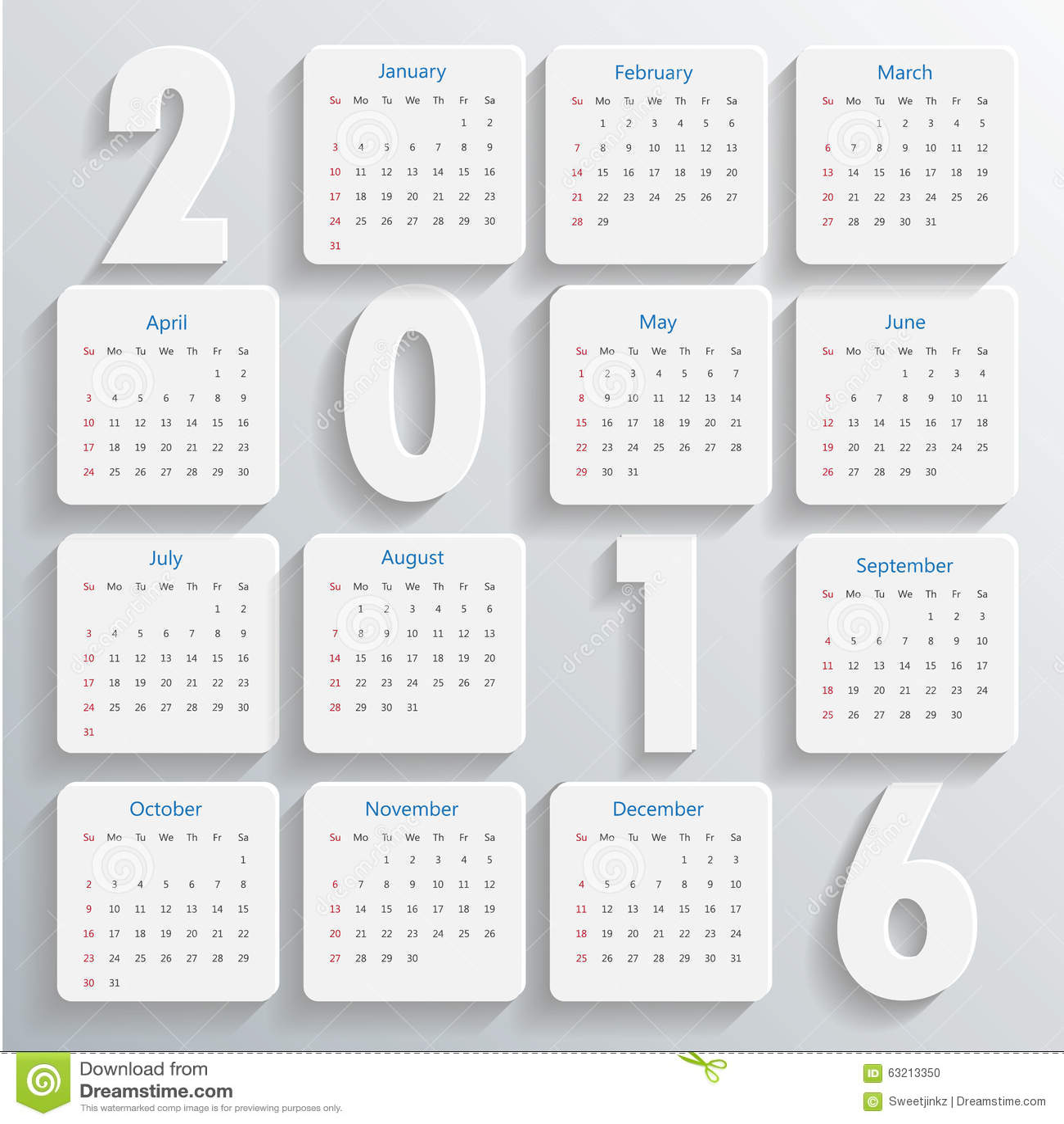 Calendar Template Vector : Modern calendar template vector illustration