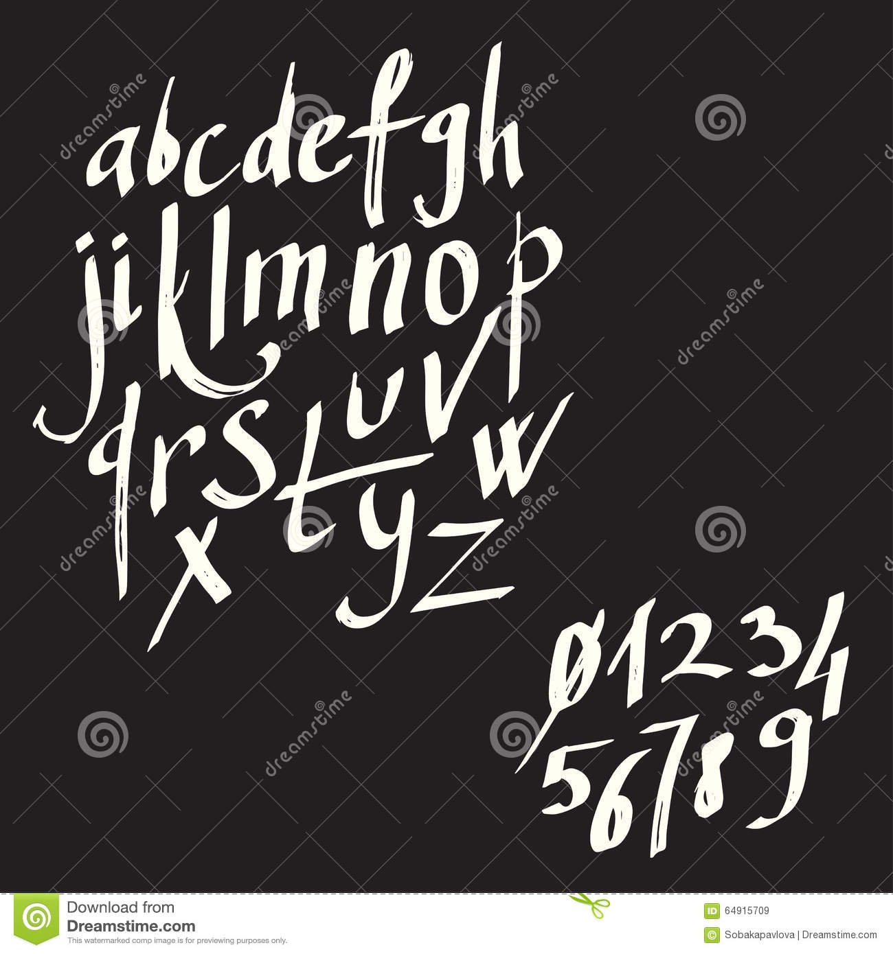 Modern calligraphy brush lettering. card or poster design with unique typography. Hand written calligraphy alphabet. Detail