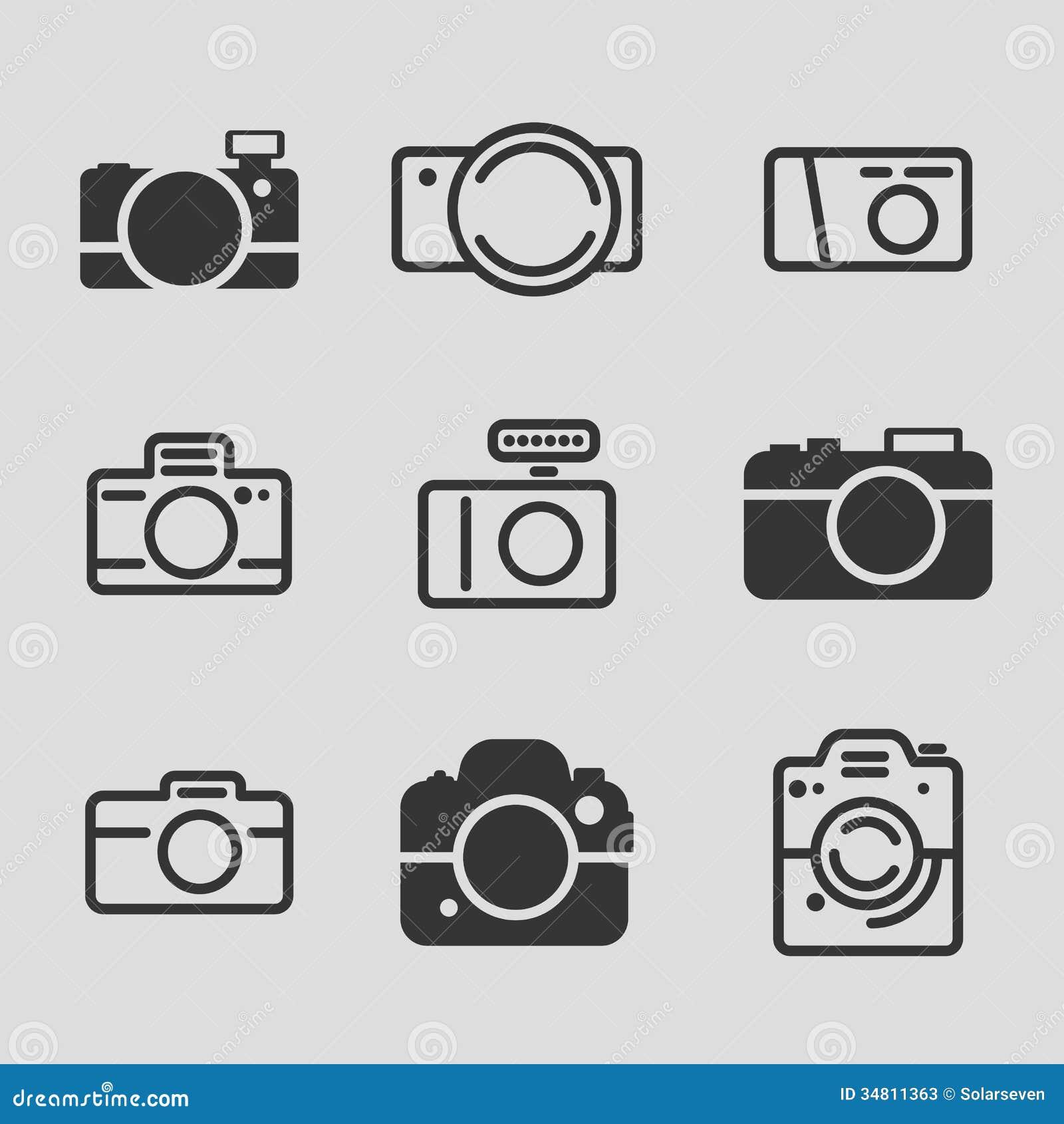 Modern camera icons stock vector illustration of design for Camera blueprint maker gratuito