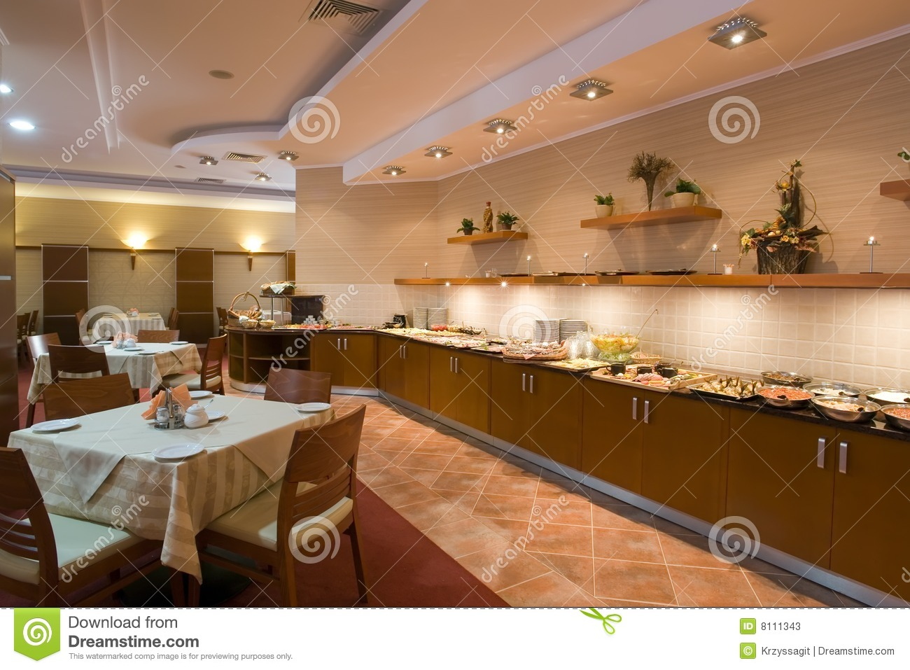 Modern Canteen Interior Stock Photos - Image: 8111343