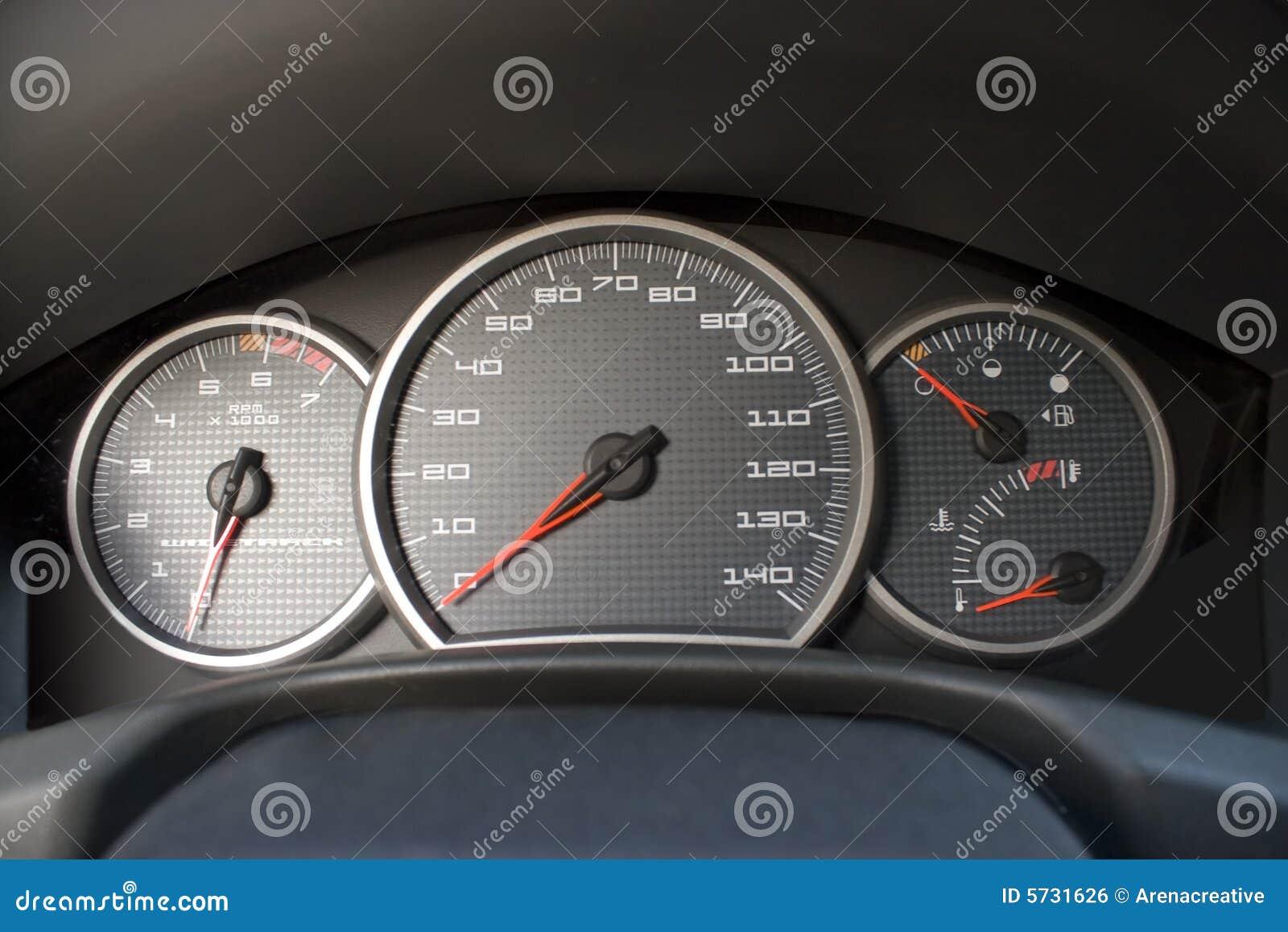Modern Car Gauge Cluster Stock Photo Image Of Measure 5731626