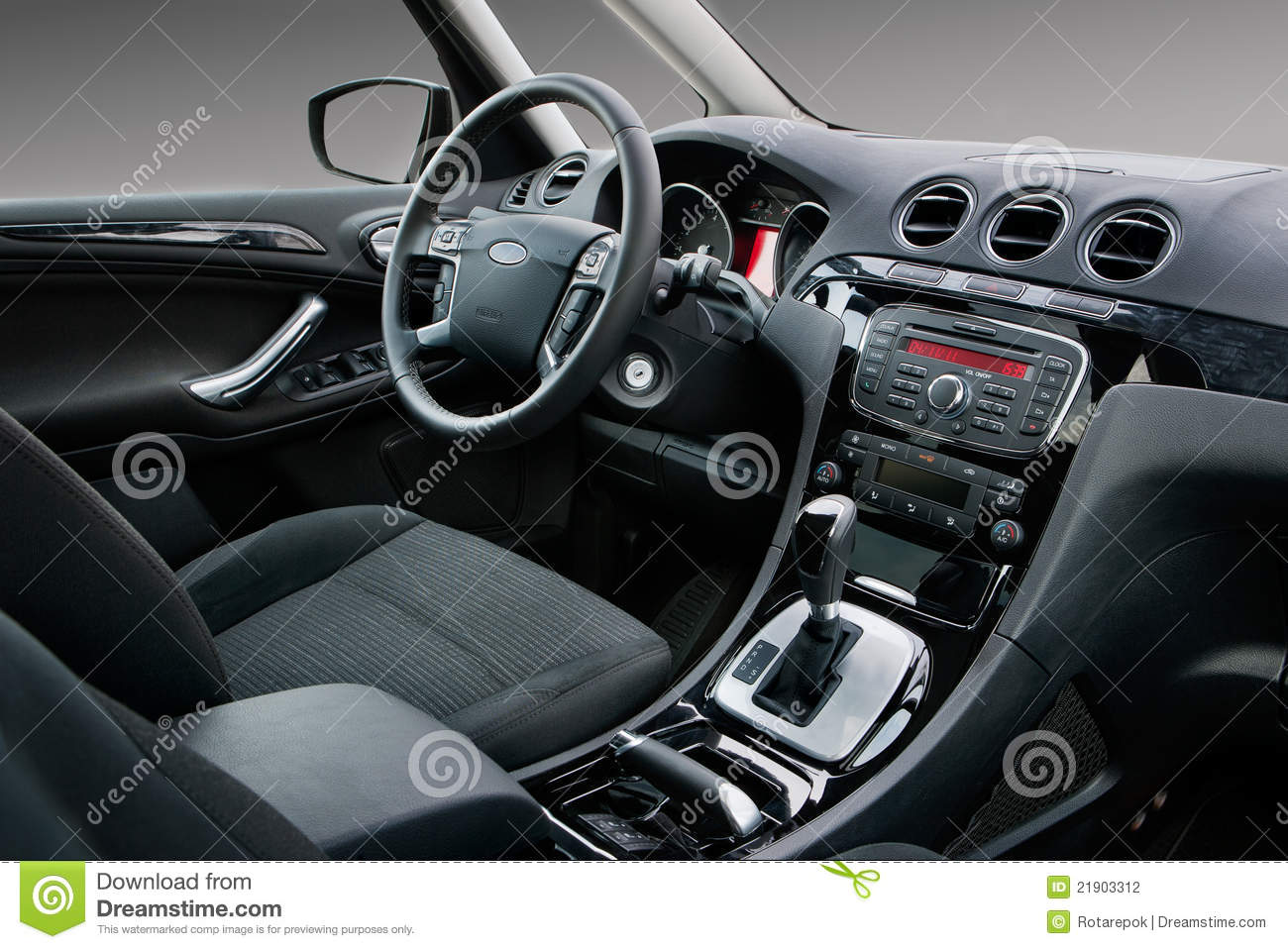 modern car interior stock photo image of auto shift 21903312. Black Bedroom Furniture Sets. Home Design Ideas