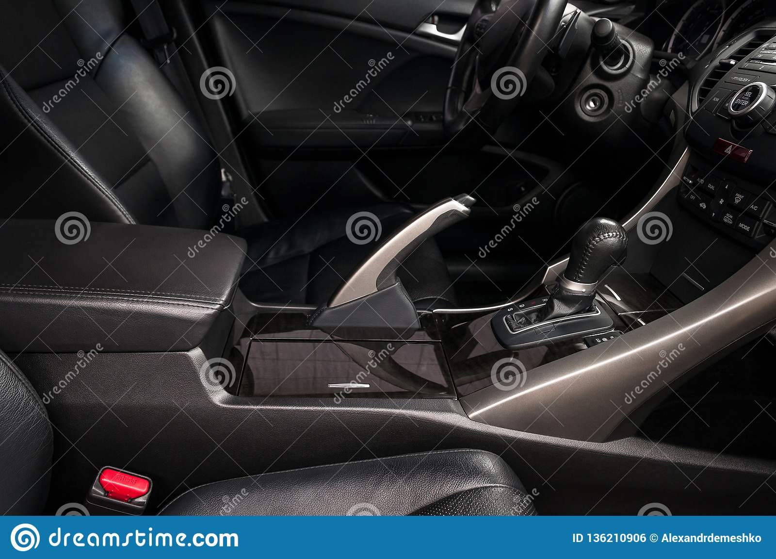 Modern Car Interior  Automatic Transmission  Stock Photo