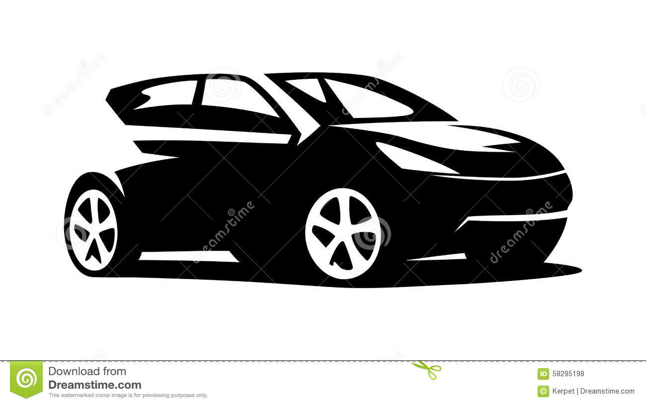 Modern Car Vector Stock Vector - Image: 58295198