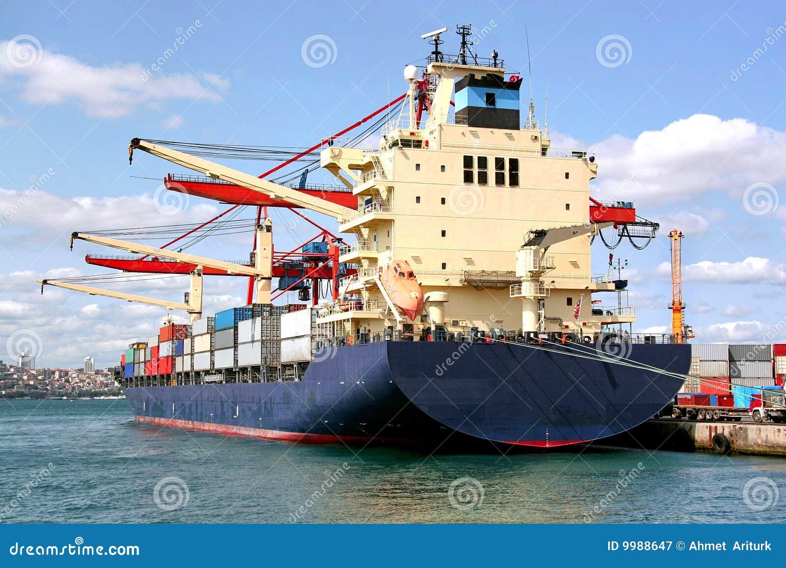 Modern cargo ship