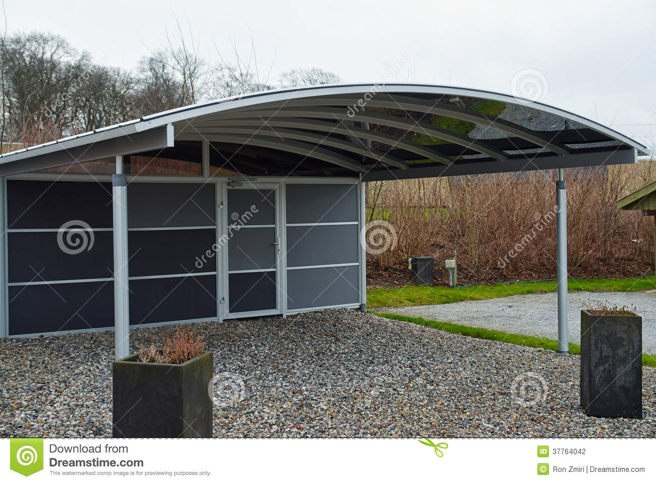 Modern carport car garage parking stock photography for Garages and carports