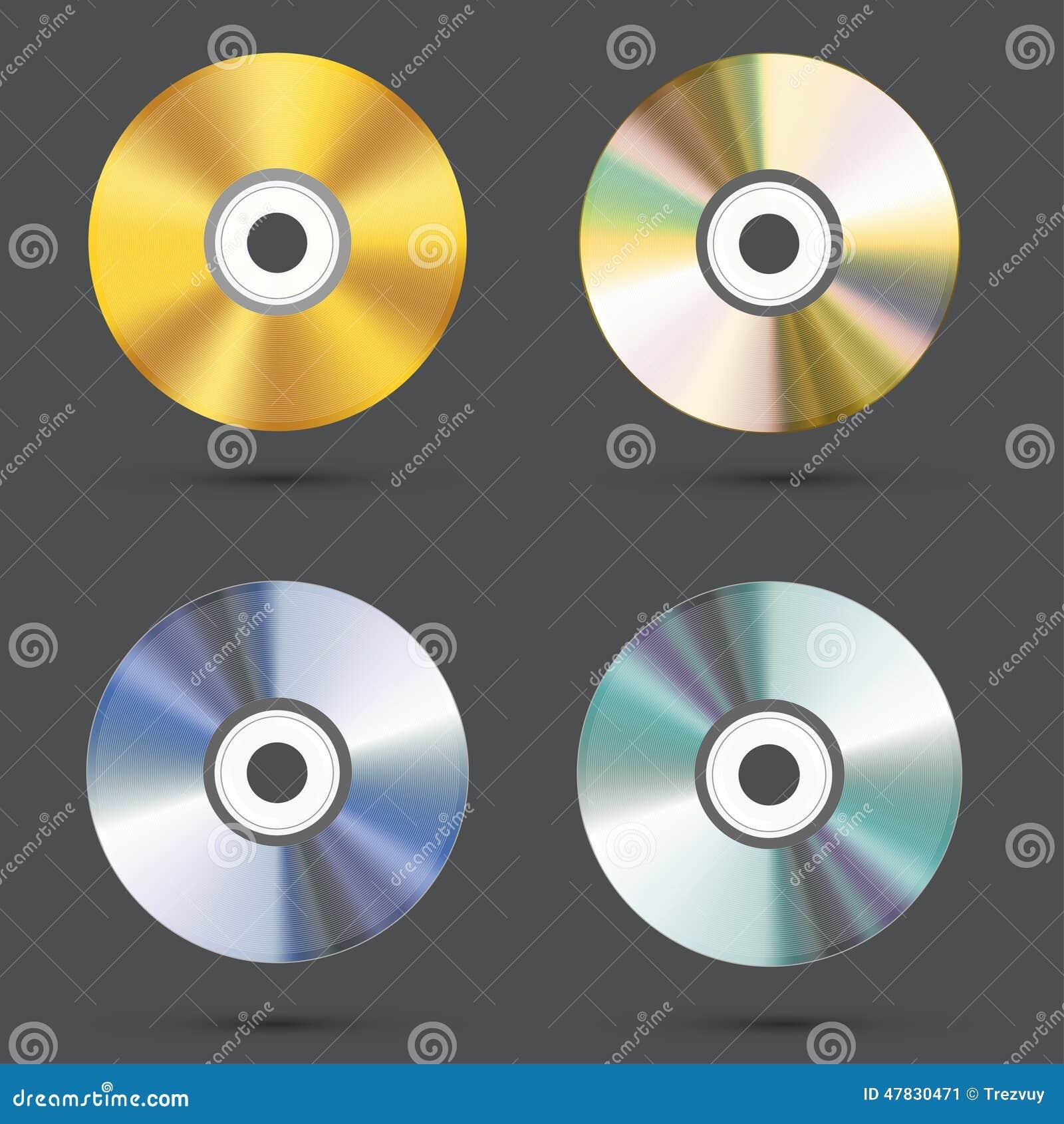 Modern cd symbolsuppsättning för vektor