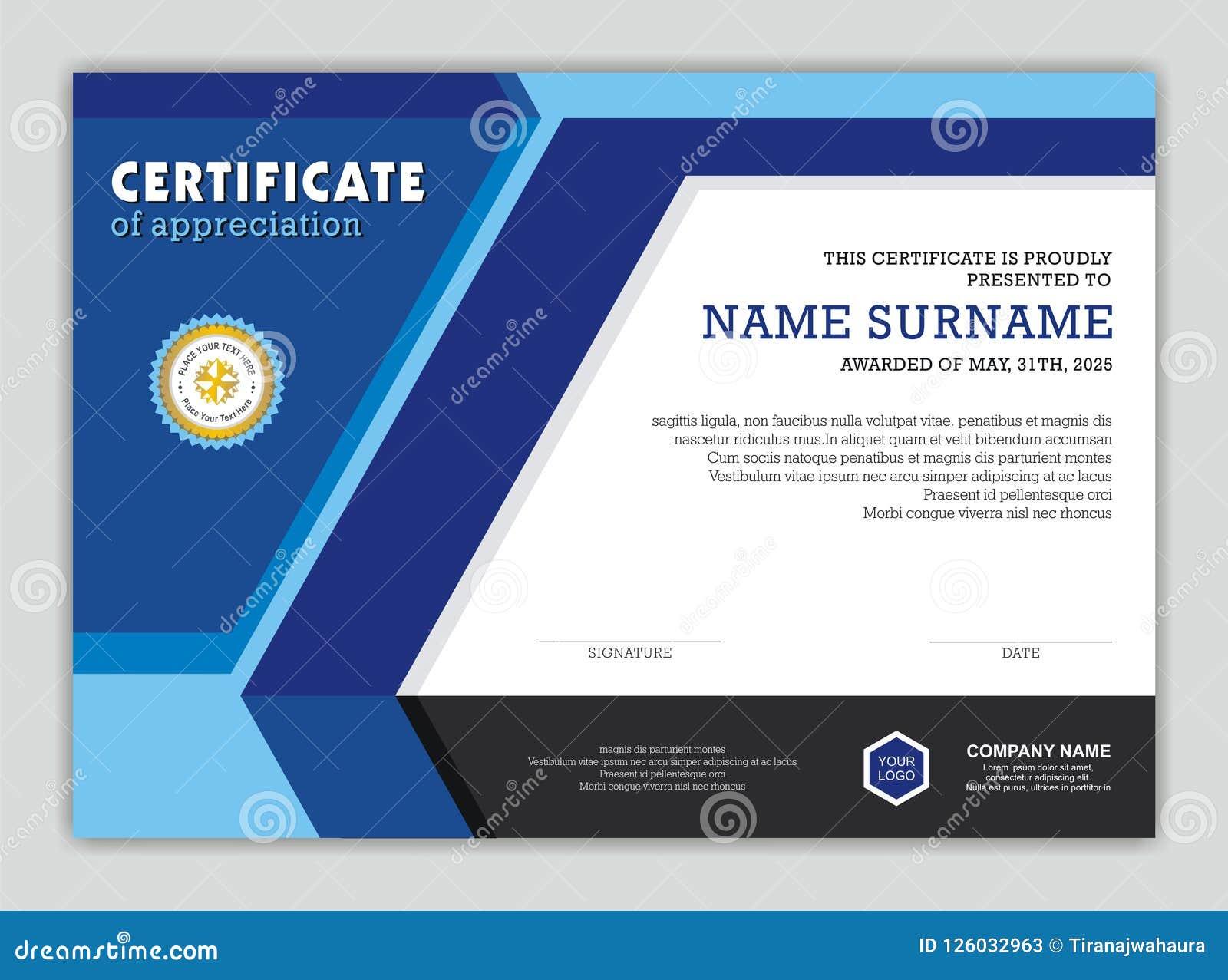 Modern Certificaat of Diploma met Modieus Ontwerp