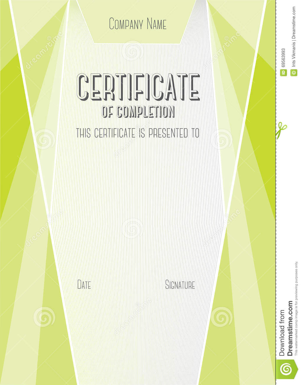 Modern certificate of completion vector template stock vector modern certificate of completion vector template yadclub Choice Image