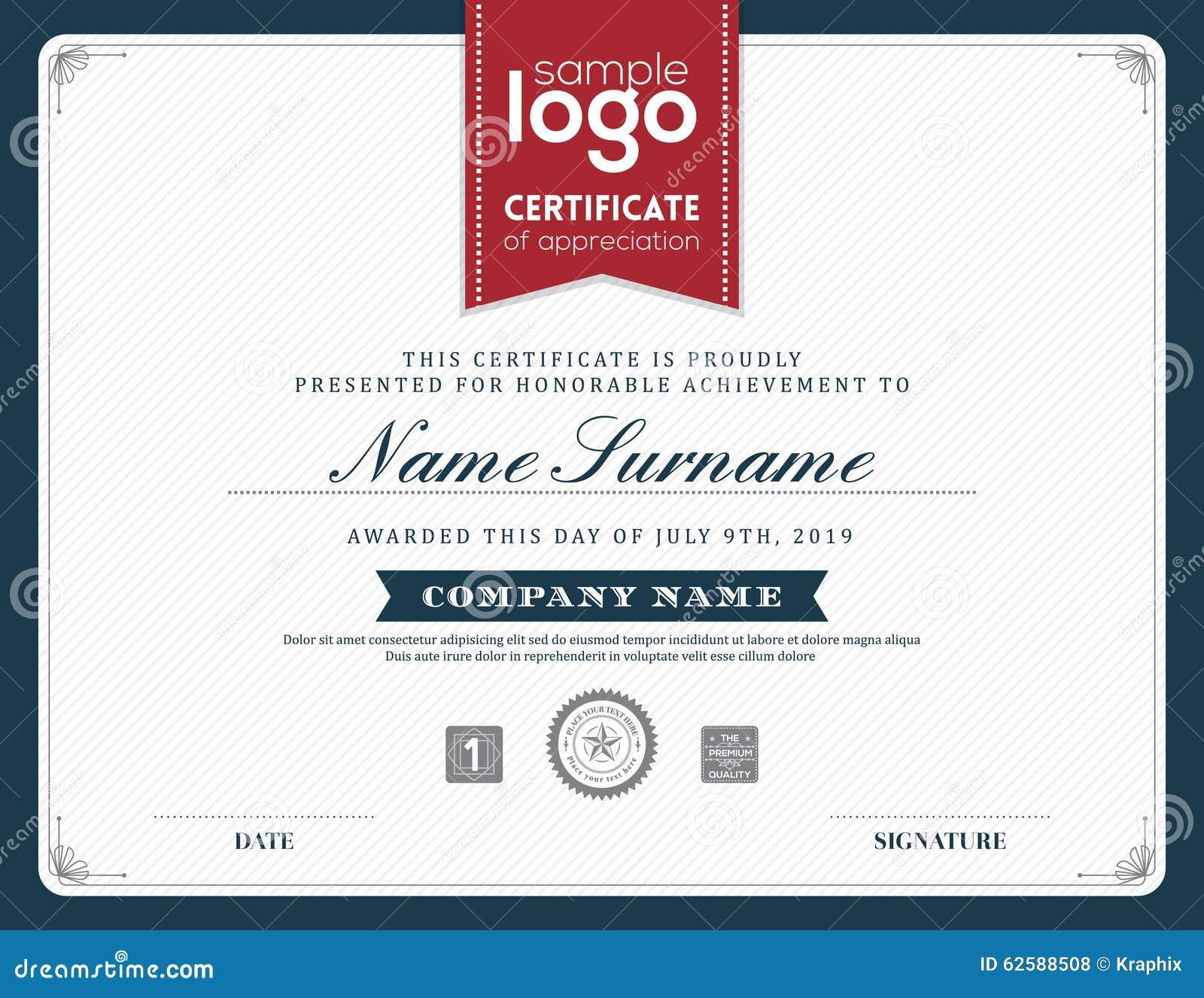 honor certificate template