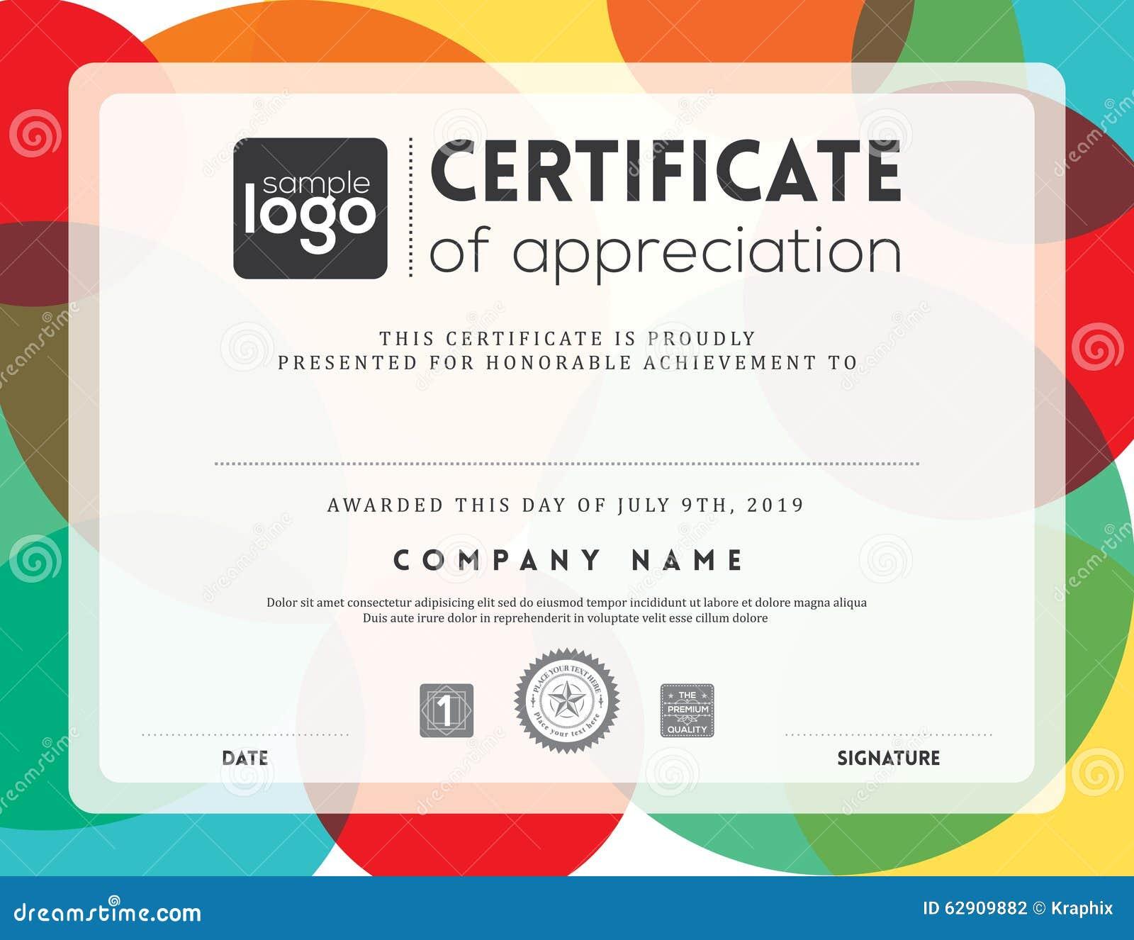 Modern Certificate Frame Design Template Stock Vector Illustration