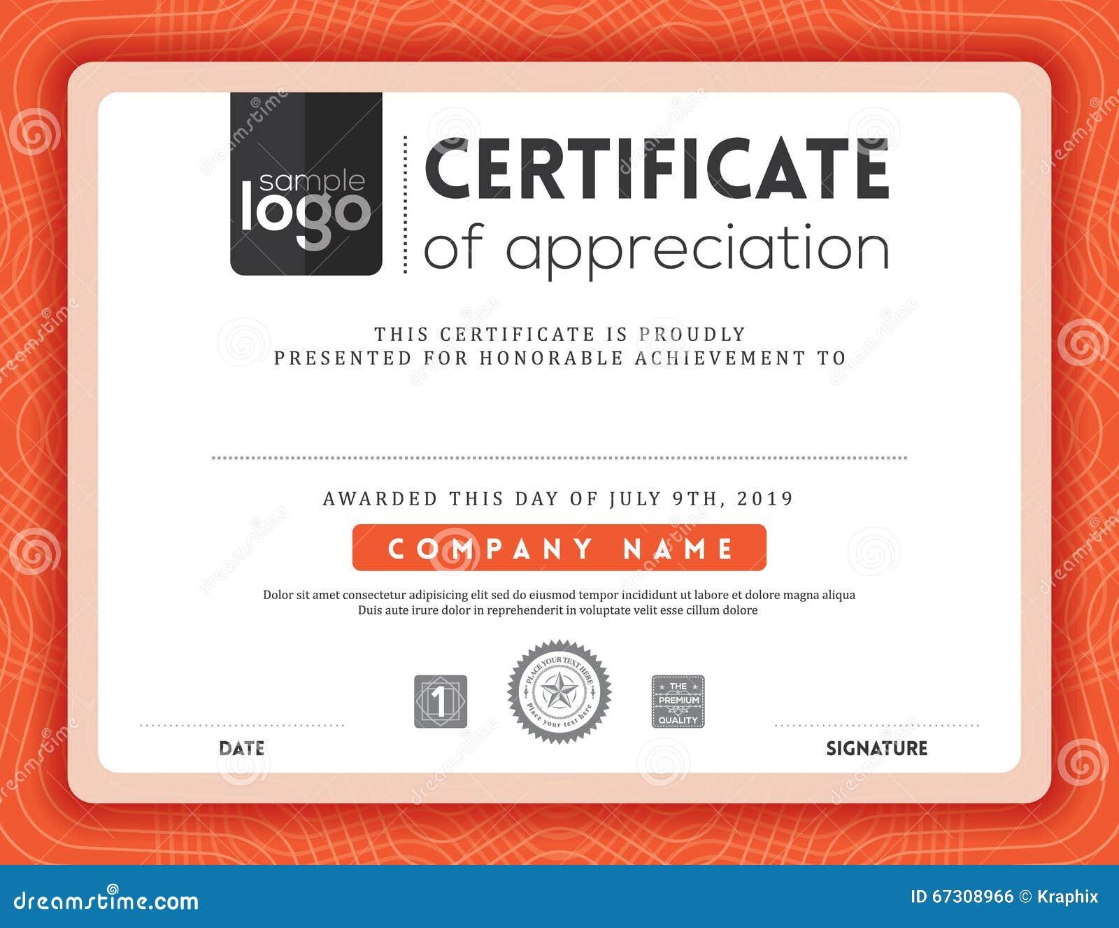 Modern Certificate Frame Design Template Stock Vector ...
