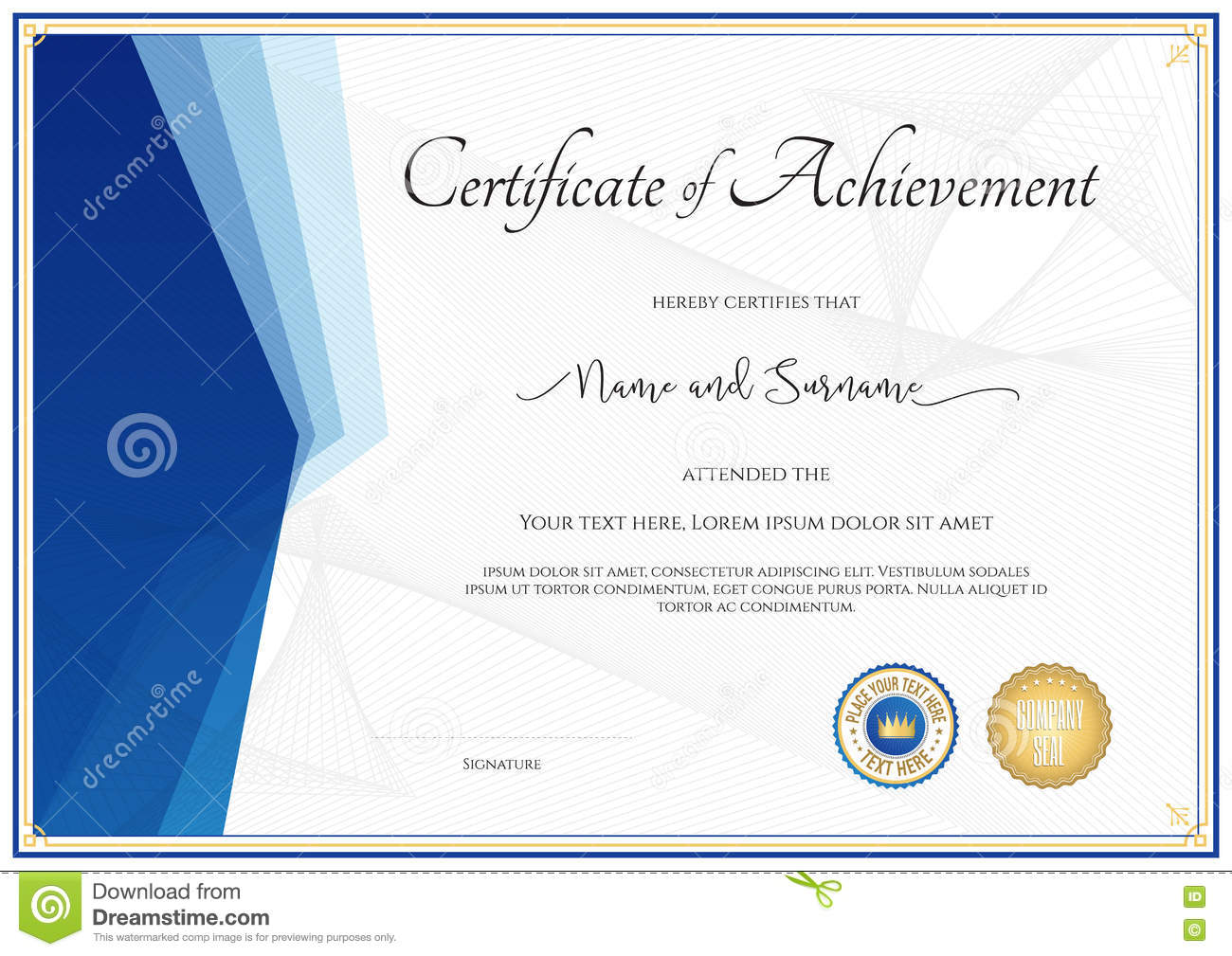 Modern certificate template for achievement appreciation parti modern certificate template for achievement appreciation parti xflitez Choice Image
