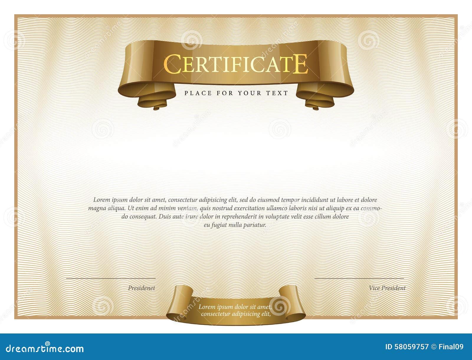 Vintage Certificate Template Mandegarfo