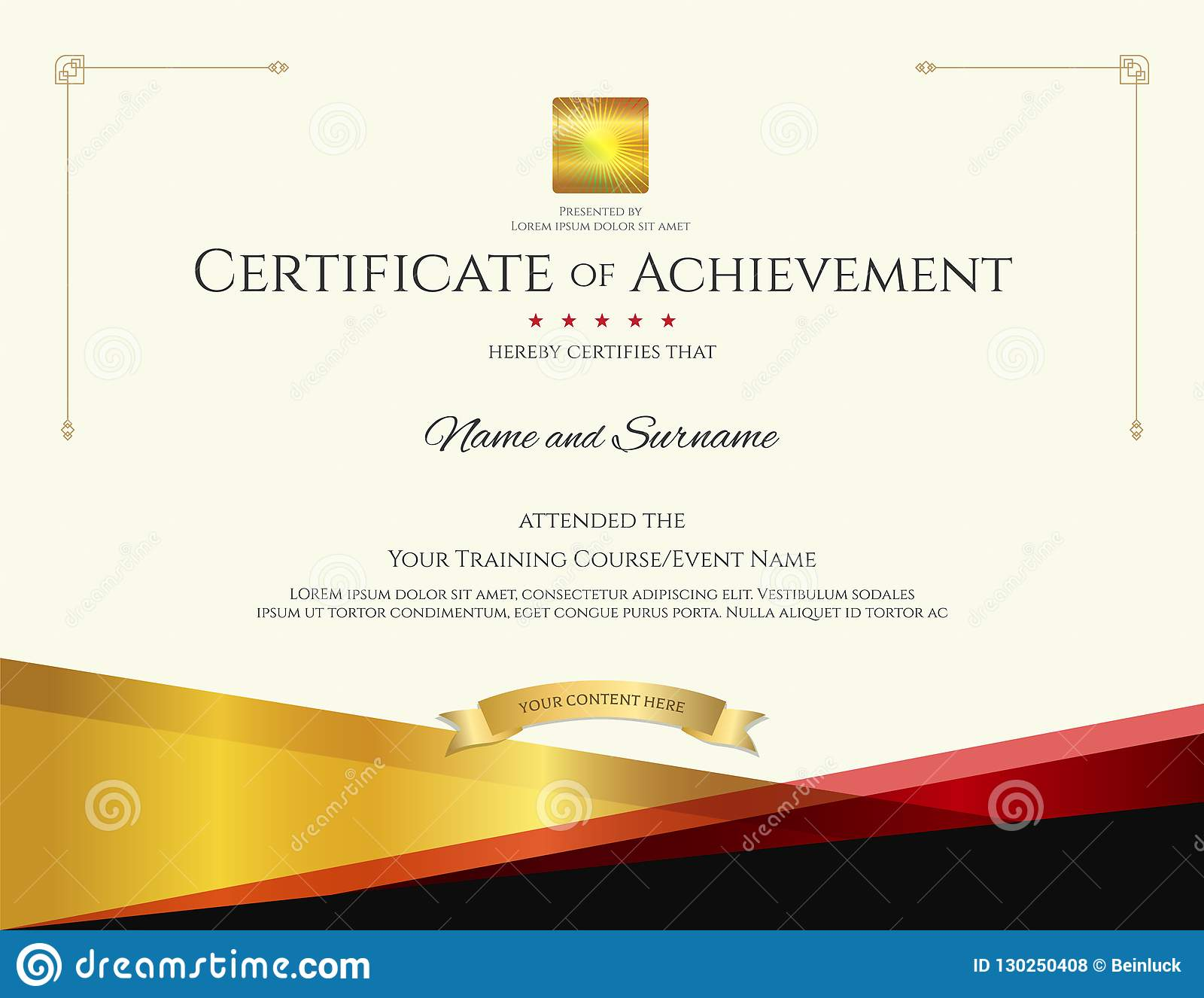 Modern certificate template with elegant border frame, Diploma d