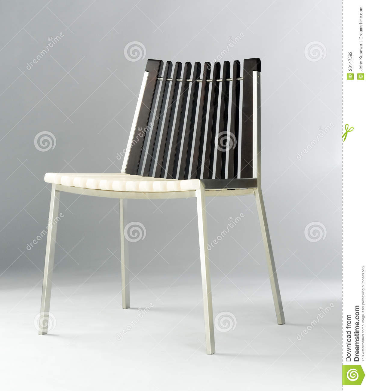 Modern chair design combination of woods and steel stock for Metal design chair