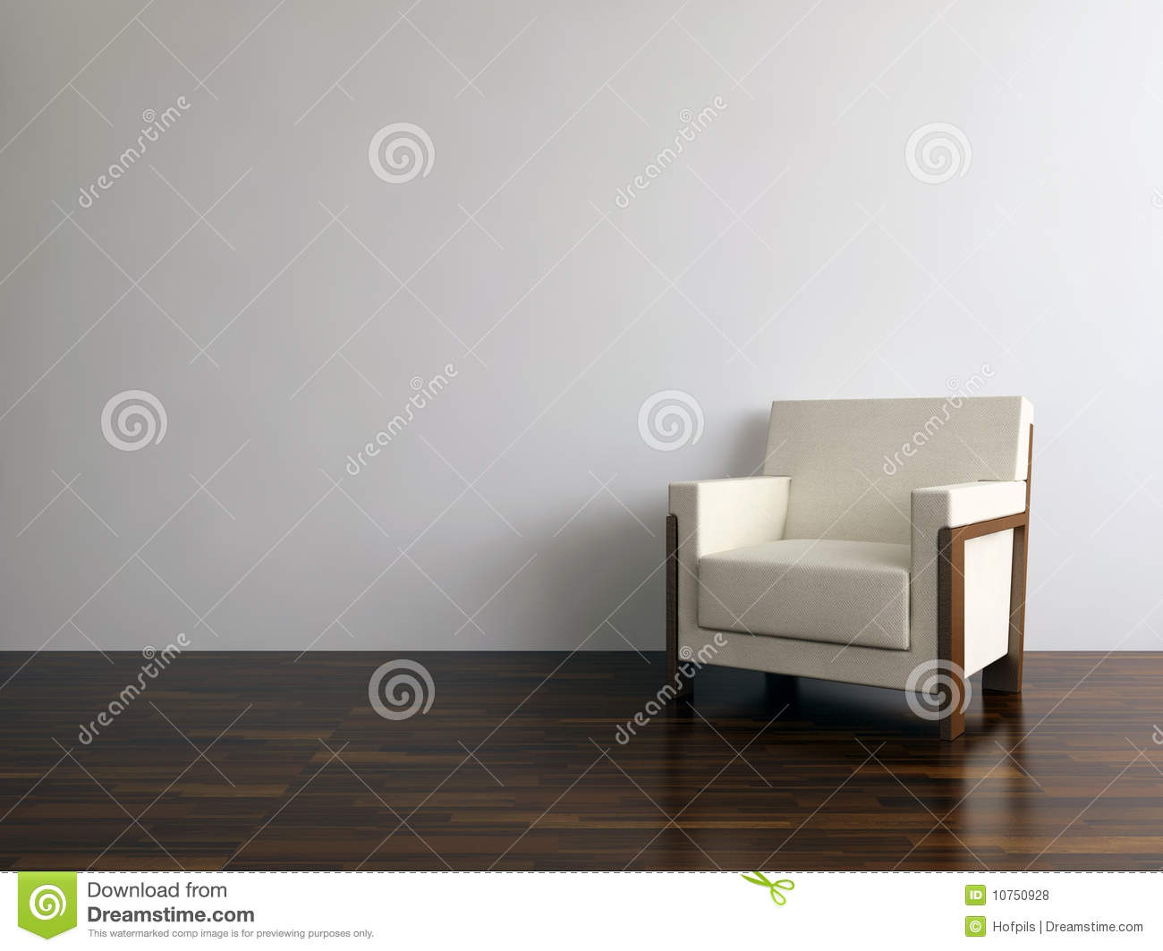 Modern chair to face a blank wall royalty free stock for What to do with a blank wall