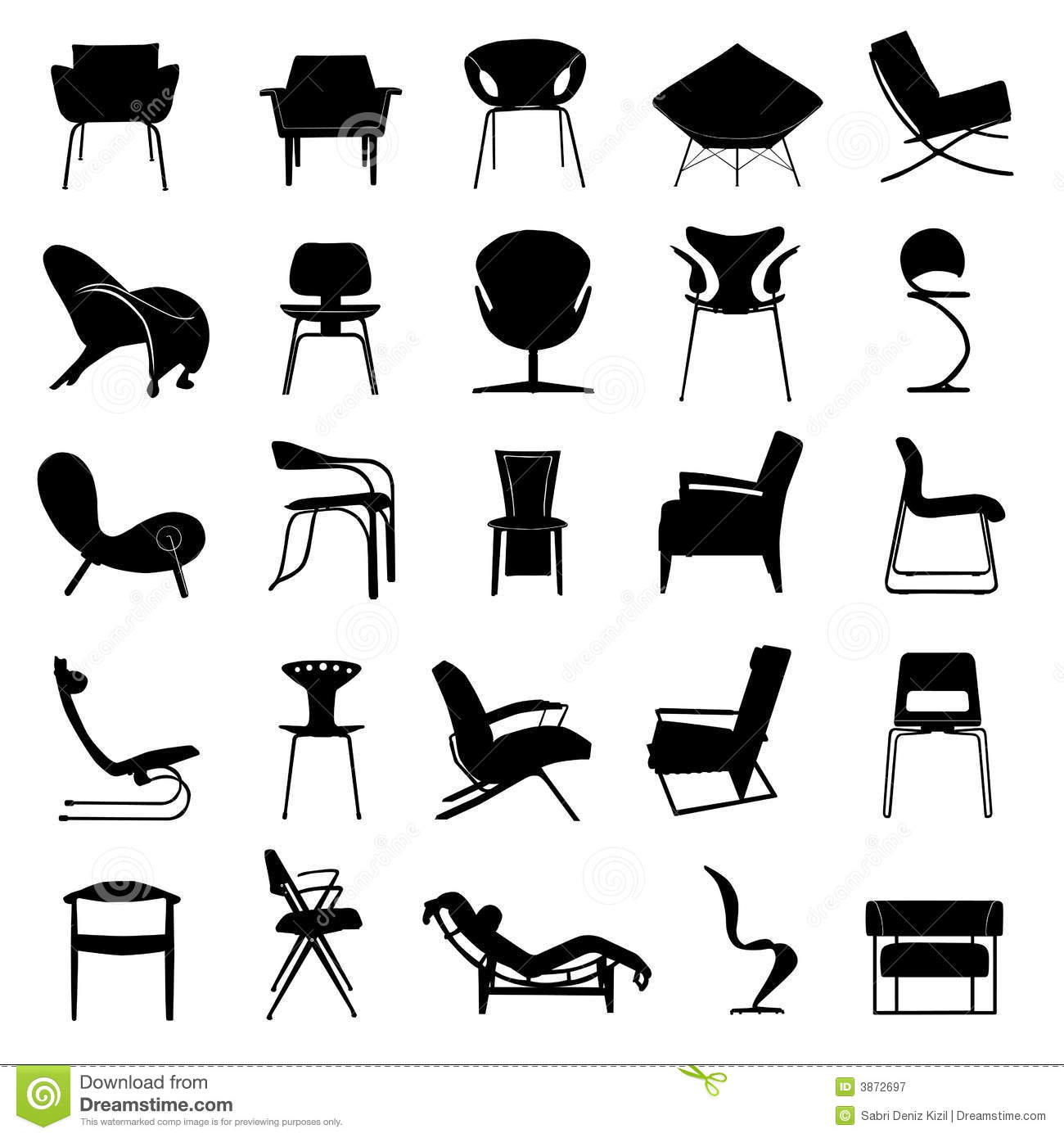 Modern Chair Vector Royalty Free Stock Photography Image