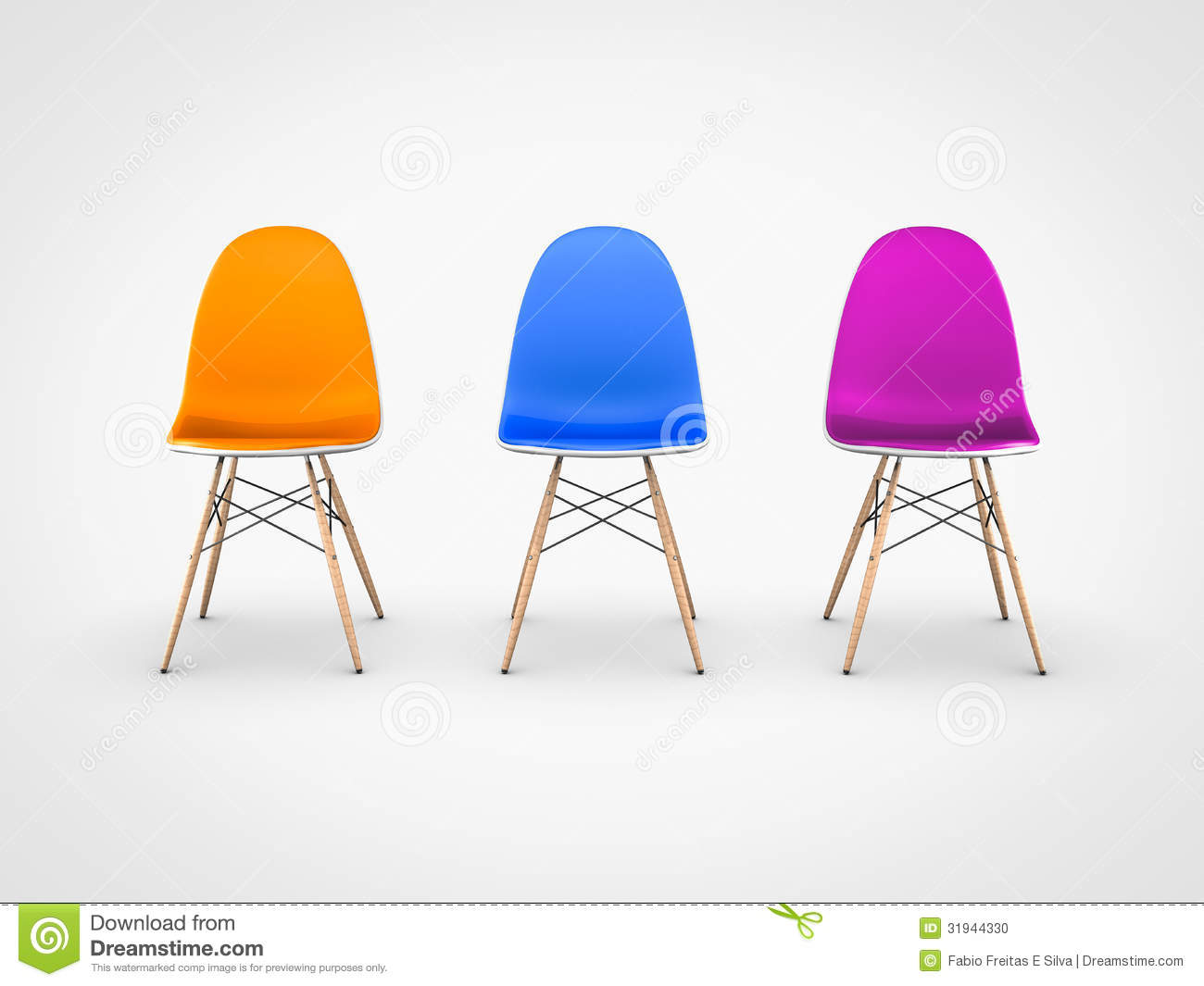 Modern Chairs On White Background Stock Photo - Image ...