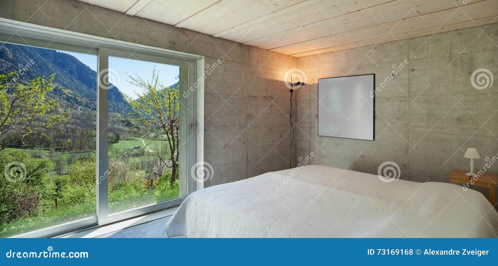 Modern chalet, slaapkamer