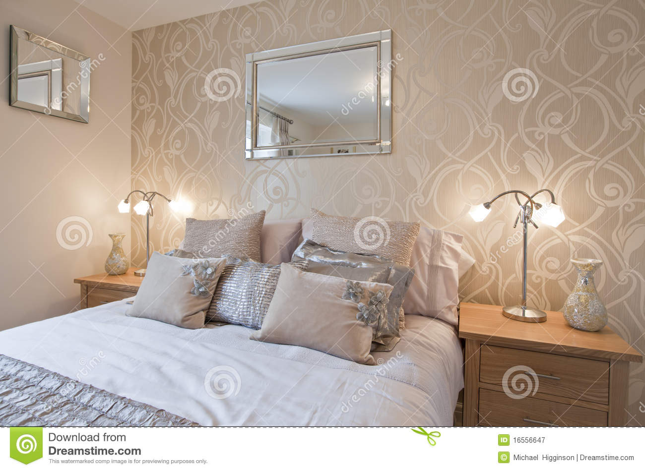 Modern chic bedroom stock image image of opulent for Bedroom ideas modern chic