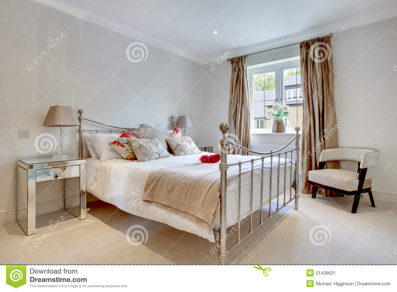 Modern Chic Bedroom Interior Stock Image Image 21439621