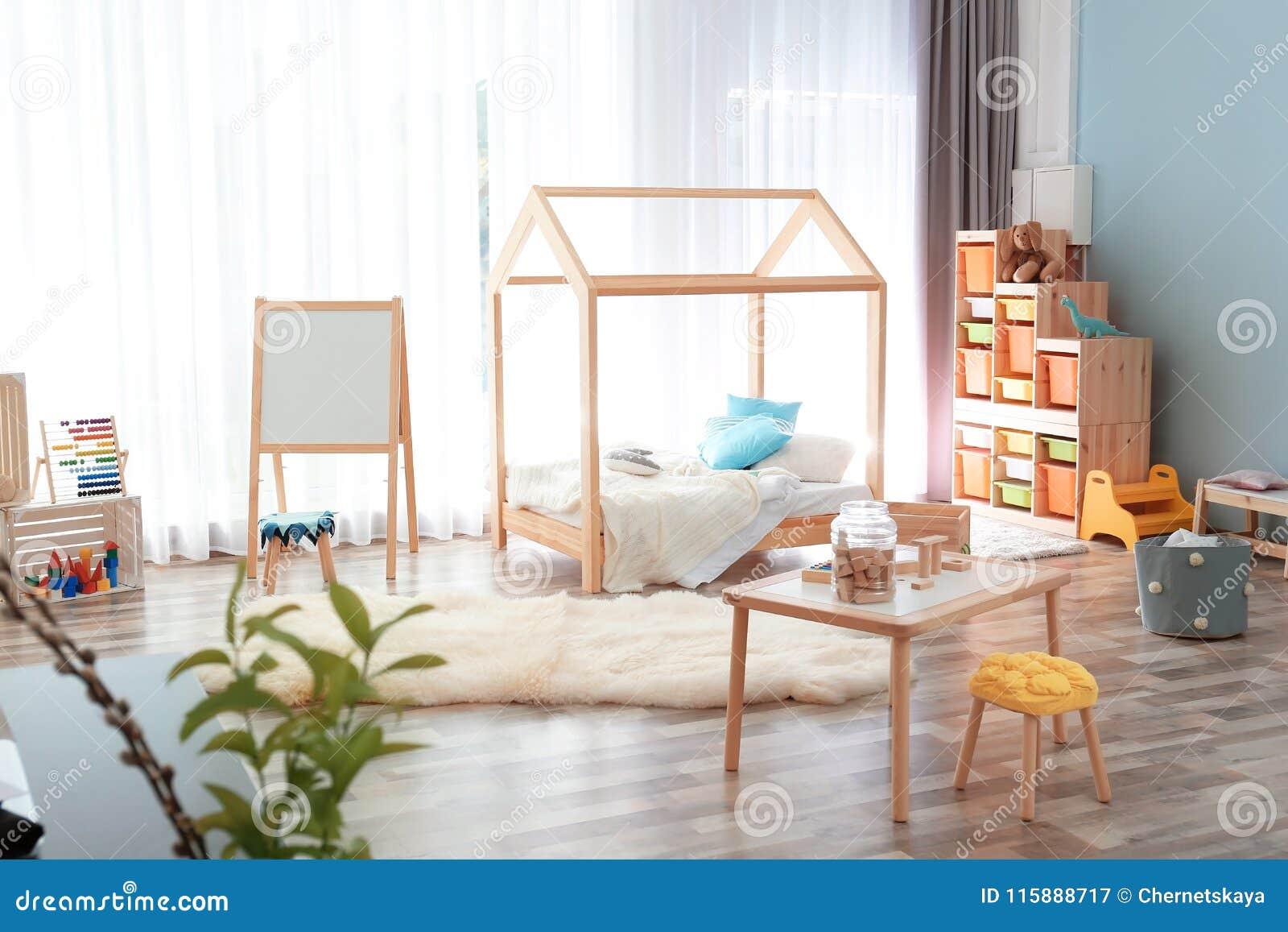 Modern Child Room Interior Setting. Idea For Home Stock Image ...