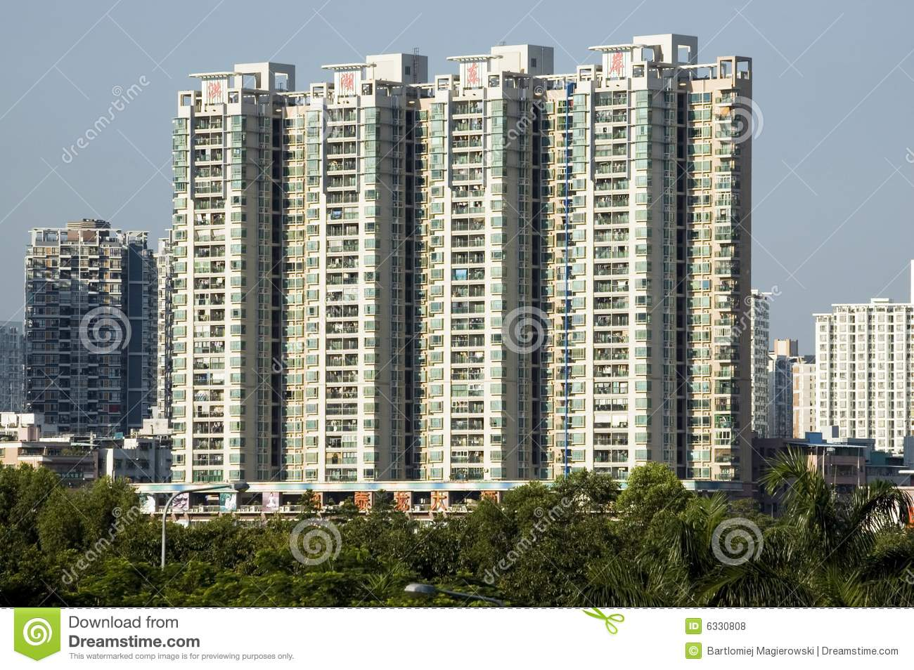 Modern chinese residential area stock photo image of for Chinese in the area