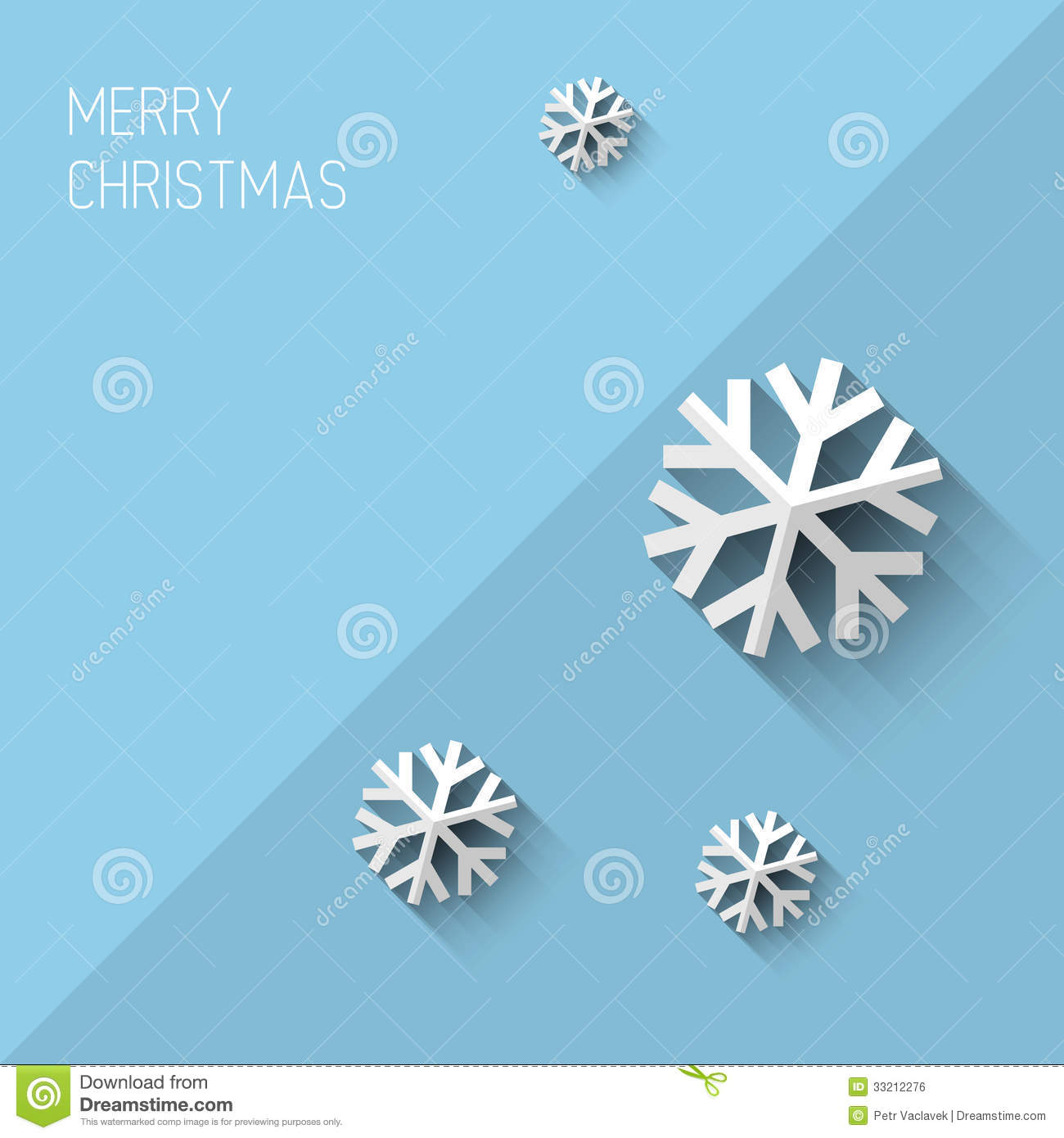 Royalty-Free Stock Photo. Download Modern Christmas Card With Flat Design  ...
