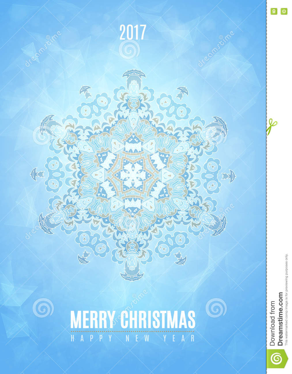 modern christmas fancy winter snowflake card stock vector