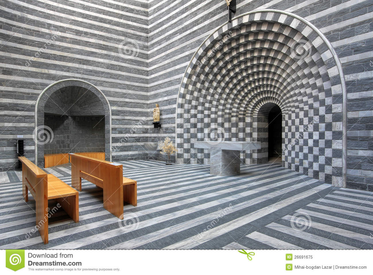 Battista Botta Chequer Church Design