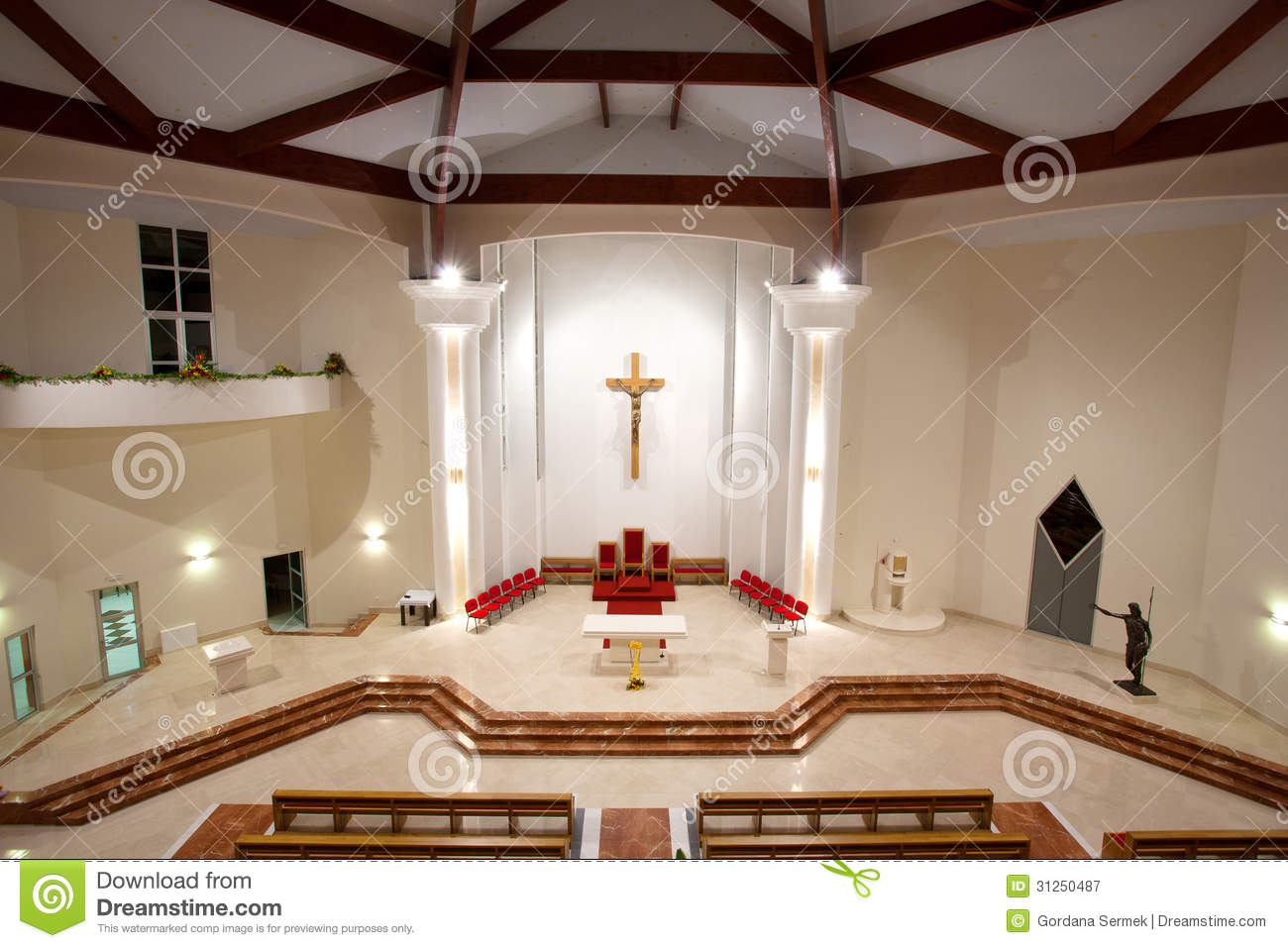 Modern Church Interior Royalty Free Stock Photography
