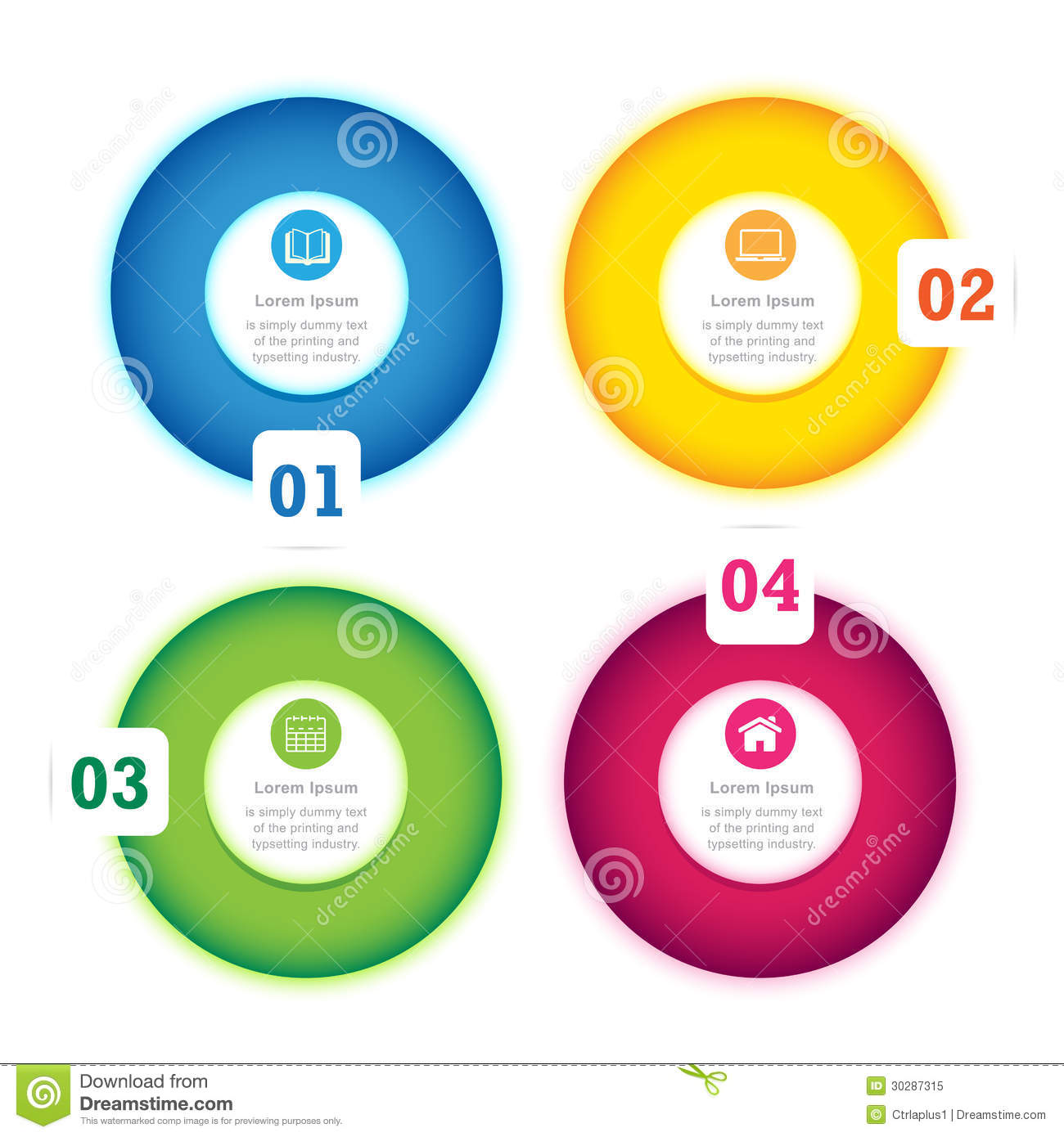 Modern Circle Design Full Color Template Royalty Free