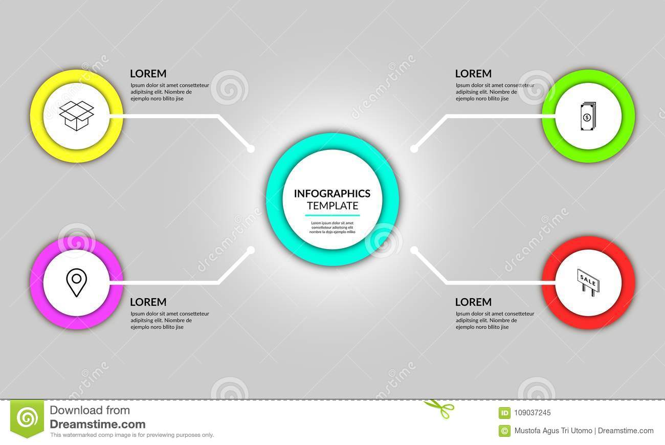 Abstract Circle Infographic Template Design Stock Image