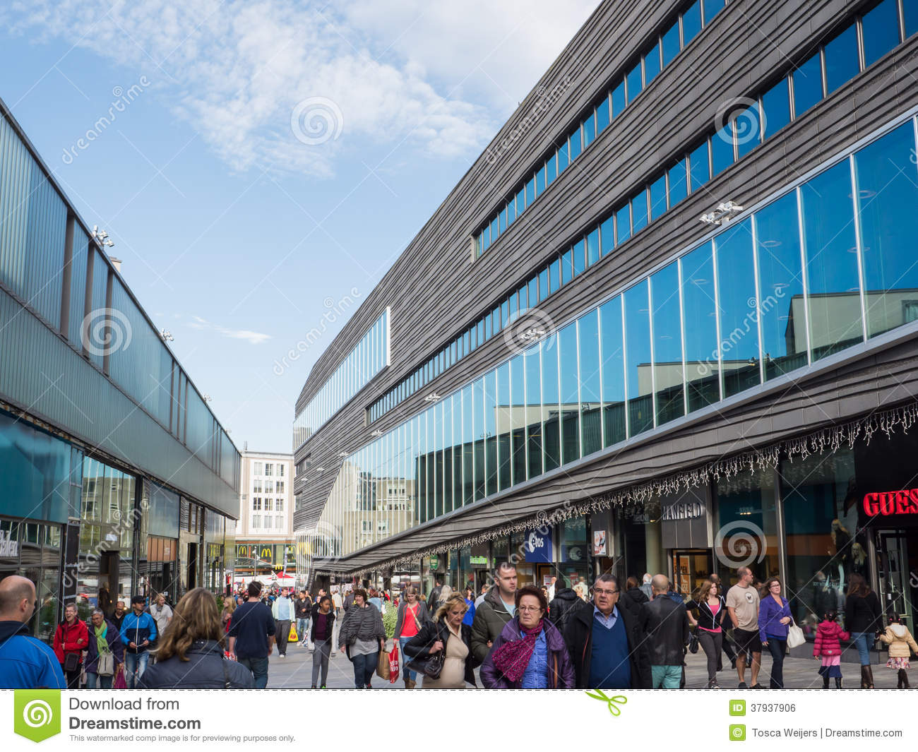 Almere Netherlands  city photos gallery : ALMERE, NETHERLANDS 26 OCT. 2013: People shopping in the modern city ...