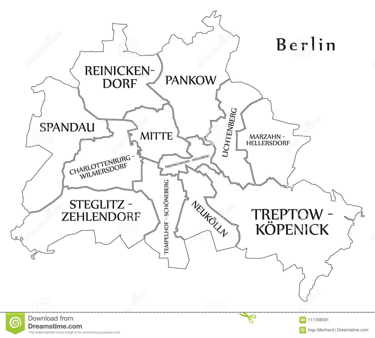 Modern city map berlin city of germany with boroughs and title modern city map berlin city of germany with boroughs and title gumiabroncs Choice Image