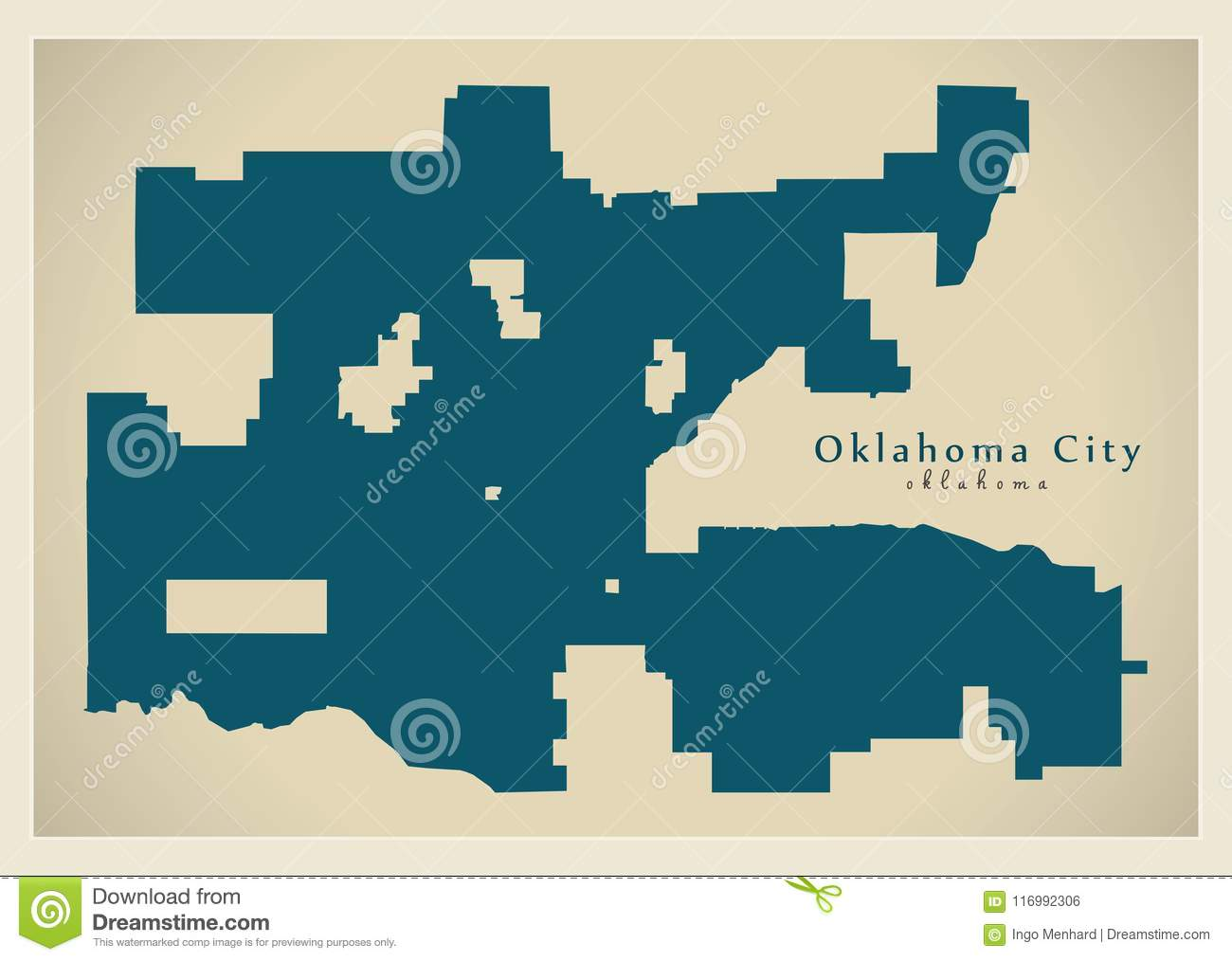 Modern City Map - Oklahoma City Of The USA Stock Vector ...