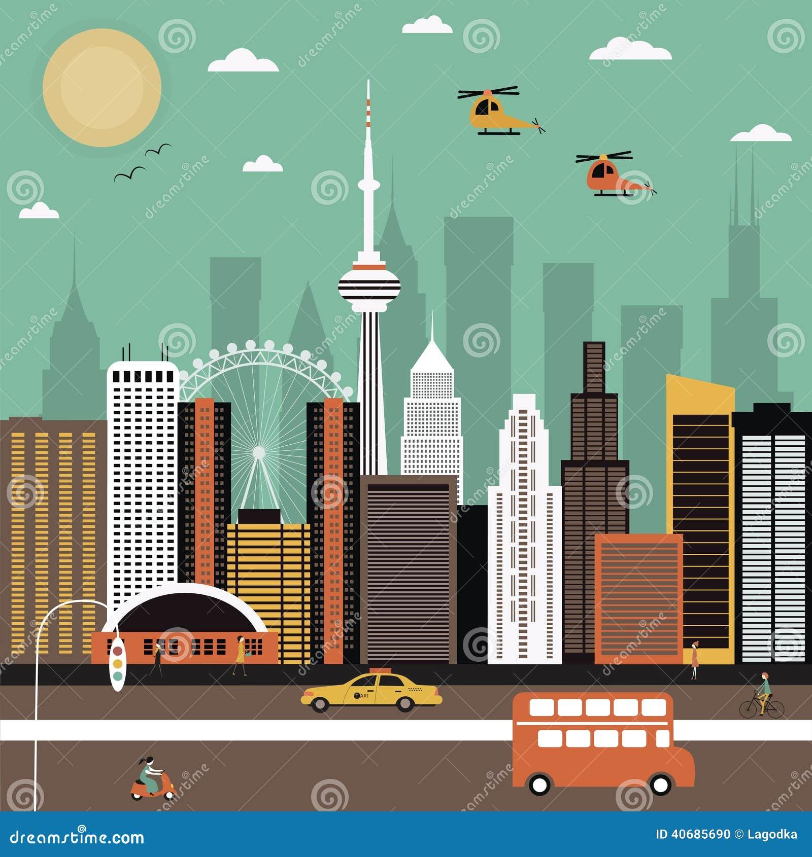 Delightful Free Modern House Plans Download #2: Modern-city-street-vector-illustration-40685690.jpg