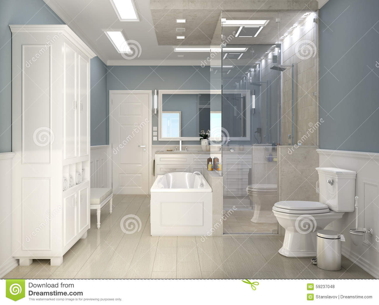 modern classic bathroom with wc stock photo image of