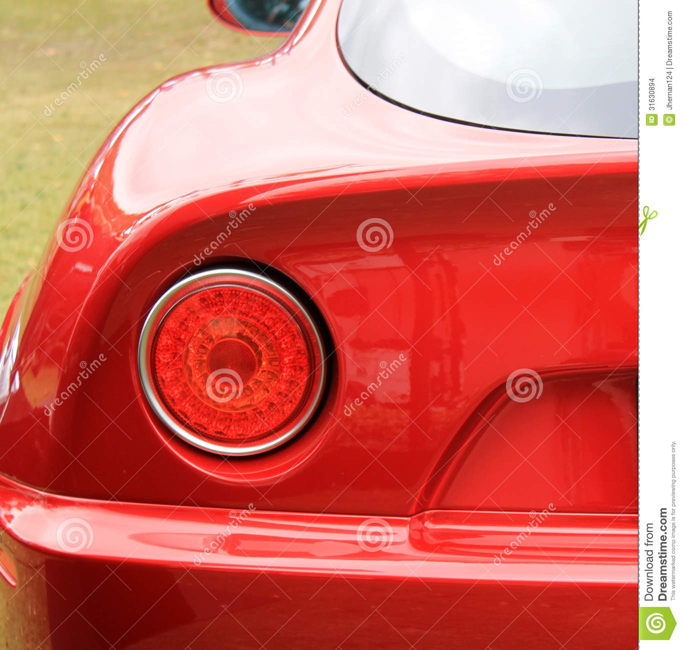 Modern classic italian sports car rear tail lamp