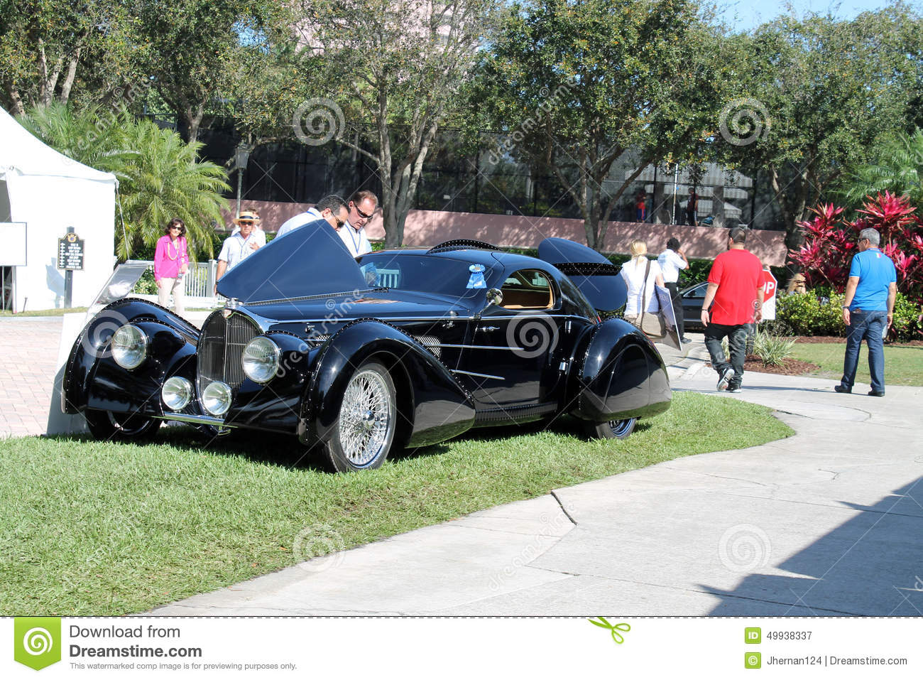Modern Classic Luxury Car On Display At Event Stock Photo 49938337 ...