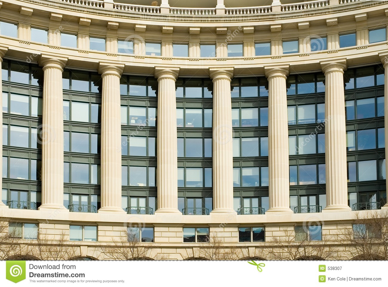 Modern classic office building royalty free stock for Classic builders