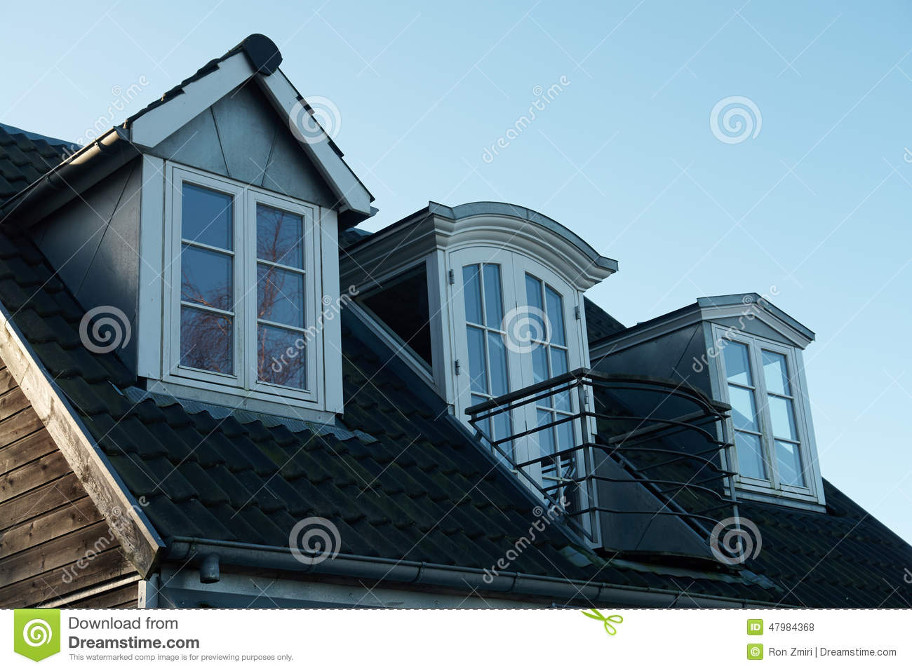 Modern Classical Vertical Roof Windows Stock Photo Image Of Residential Attic 47984368