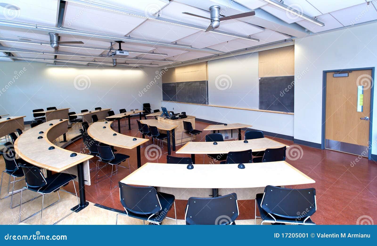 Modern Classroom Plan ~ Modern classroom stock image