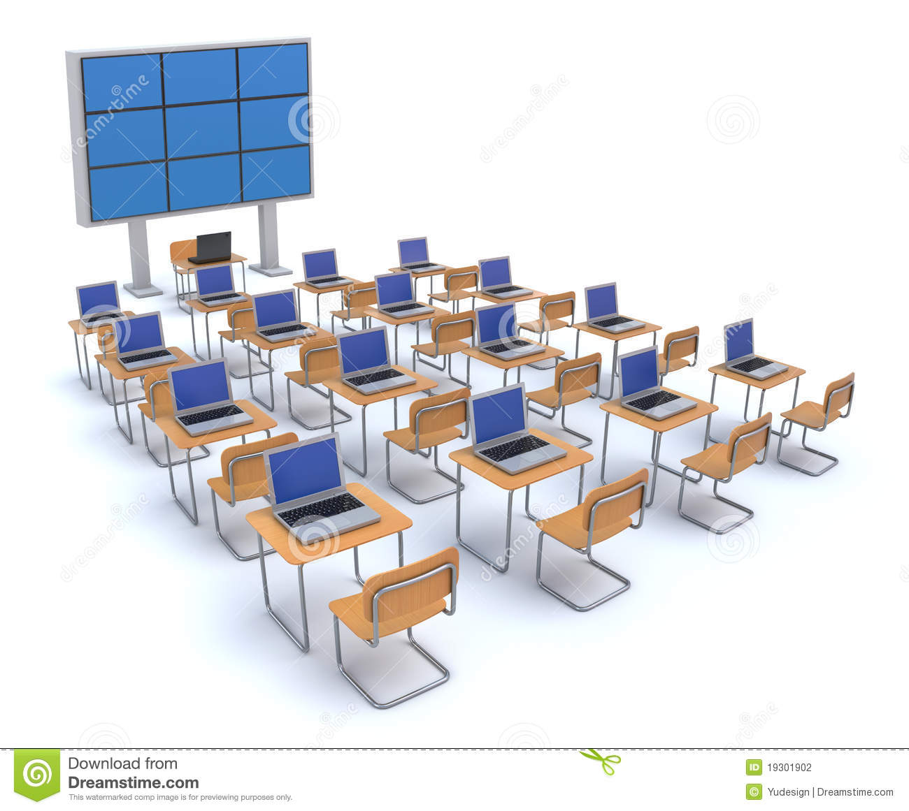 Modern Classroom Images ~ Modern classroom stock photography image