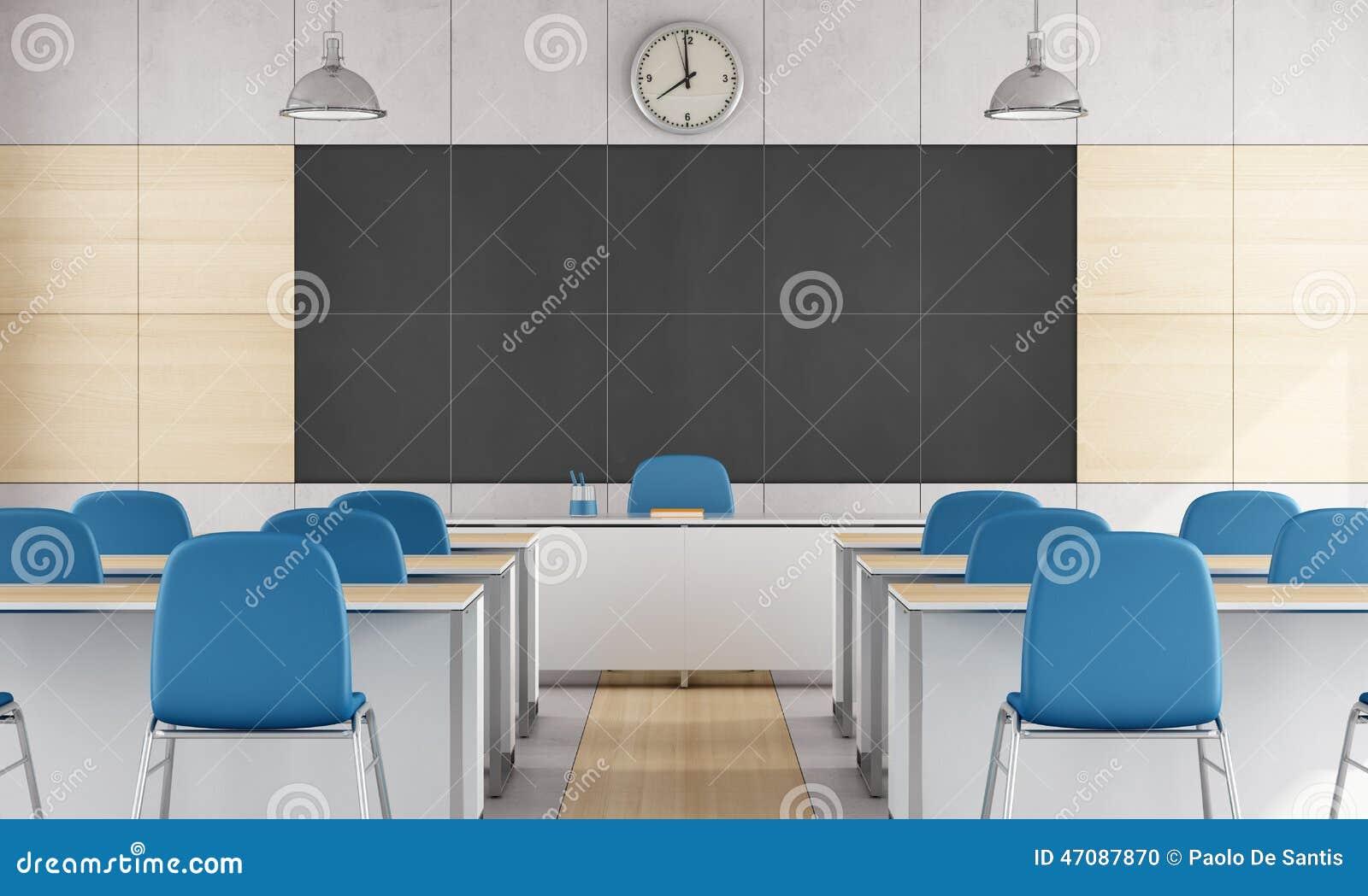 Modern Classroom Clipart ~ Modern classroom stock illustration image