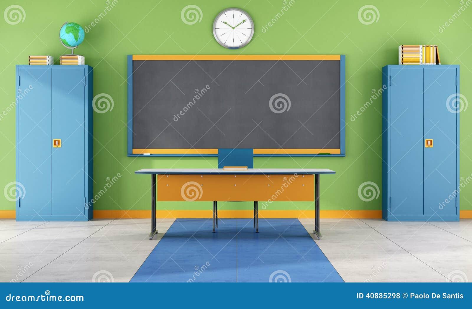Modern Classroom Teacher ~ Modern classroom stock illustration image